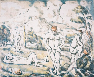 Paul Cézanne, The Bathers, c. 1898, color lithograph, Dr. Dorothea Moore Bequest