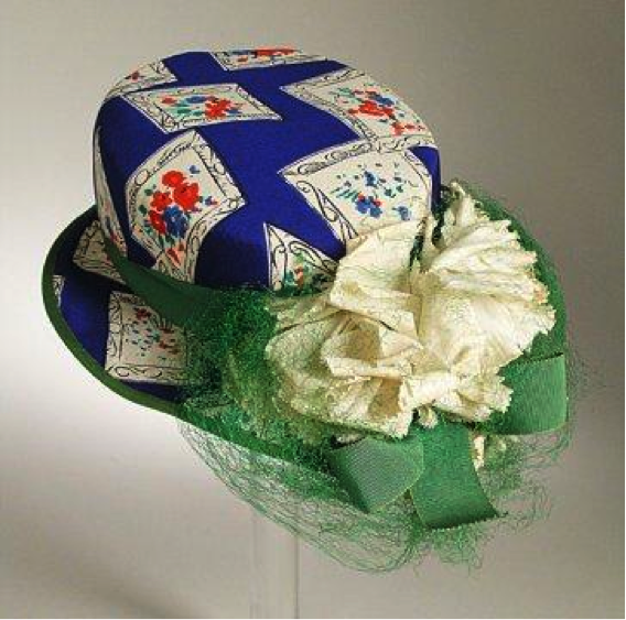 Sally Victor, Woman's Hat, circa 1942, gift of Betsy Talbot Blackwell
