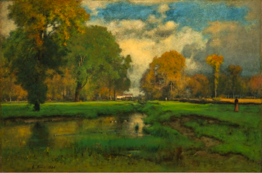 October, George Inness, United States, 1882 or 1886, Paul Rodman Mabury Collection