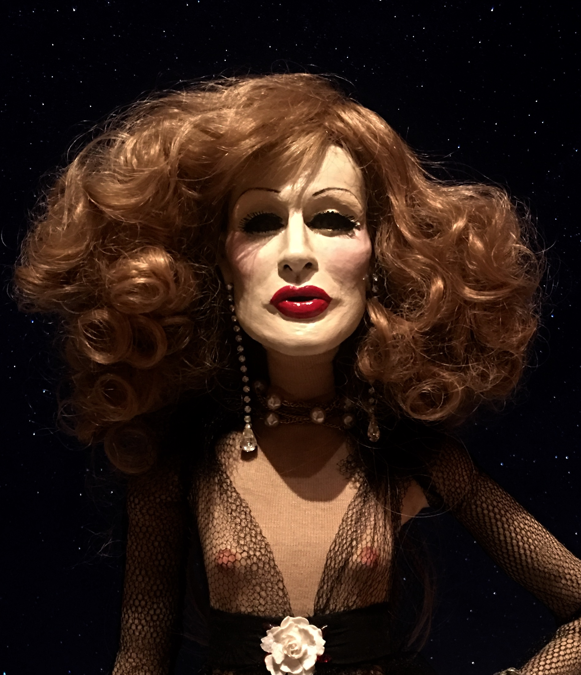 Close-up image of Greek Lankton's Candy Darling celebrity doll