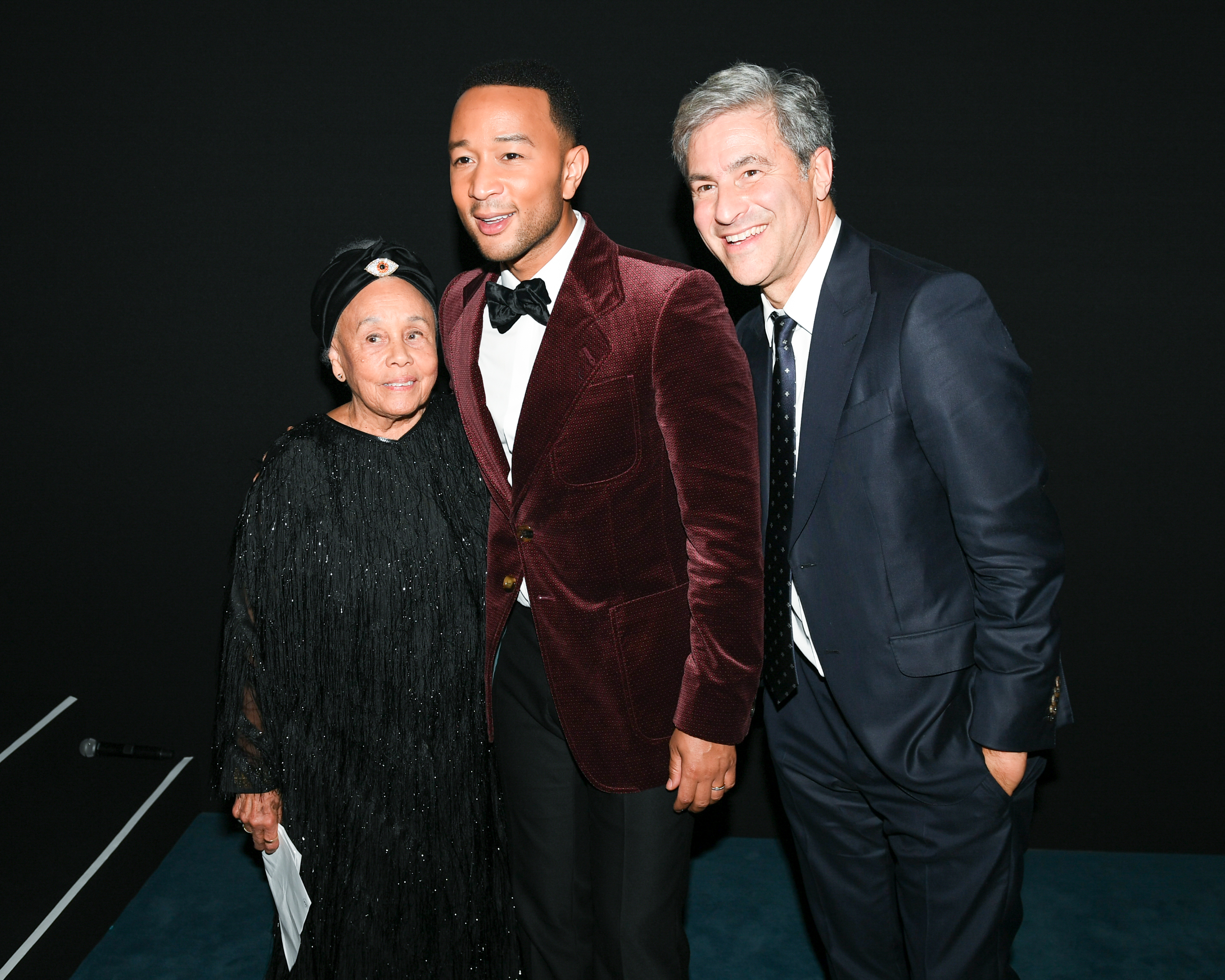 Honoree Betye Saar, John Legend, and LACMA CEO and Director Michael Govan, photo by Billy Farrell/BFA.com