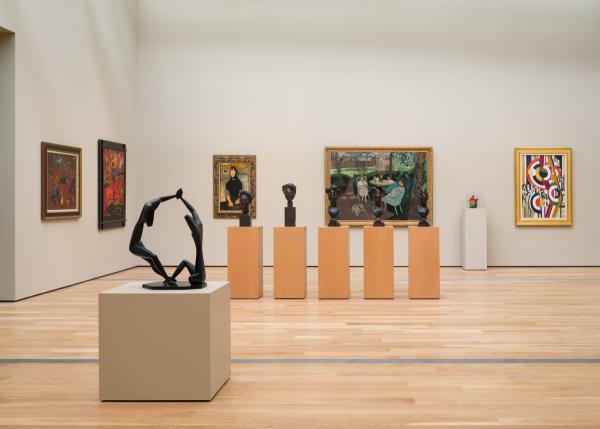 Installation view of Modern Art Galleries