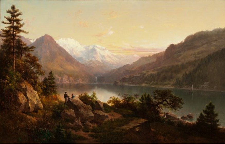 Emerald Bay, Lake Tahoe, Thomas Hill, United States, 1864, William Randolph Hearst Collection