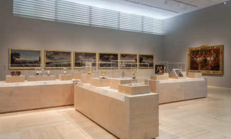 Installation of the Spanish colonial art galleries at LACMA