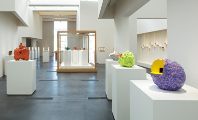 "Installation view, ""Ken Price Sculpture: A Retrospective,"" September 16, 2012–January 6, 2013, Los Angeles County Museum of Art, © Ken Price, photo © 2012 Fredrik Nilsen"