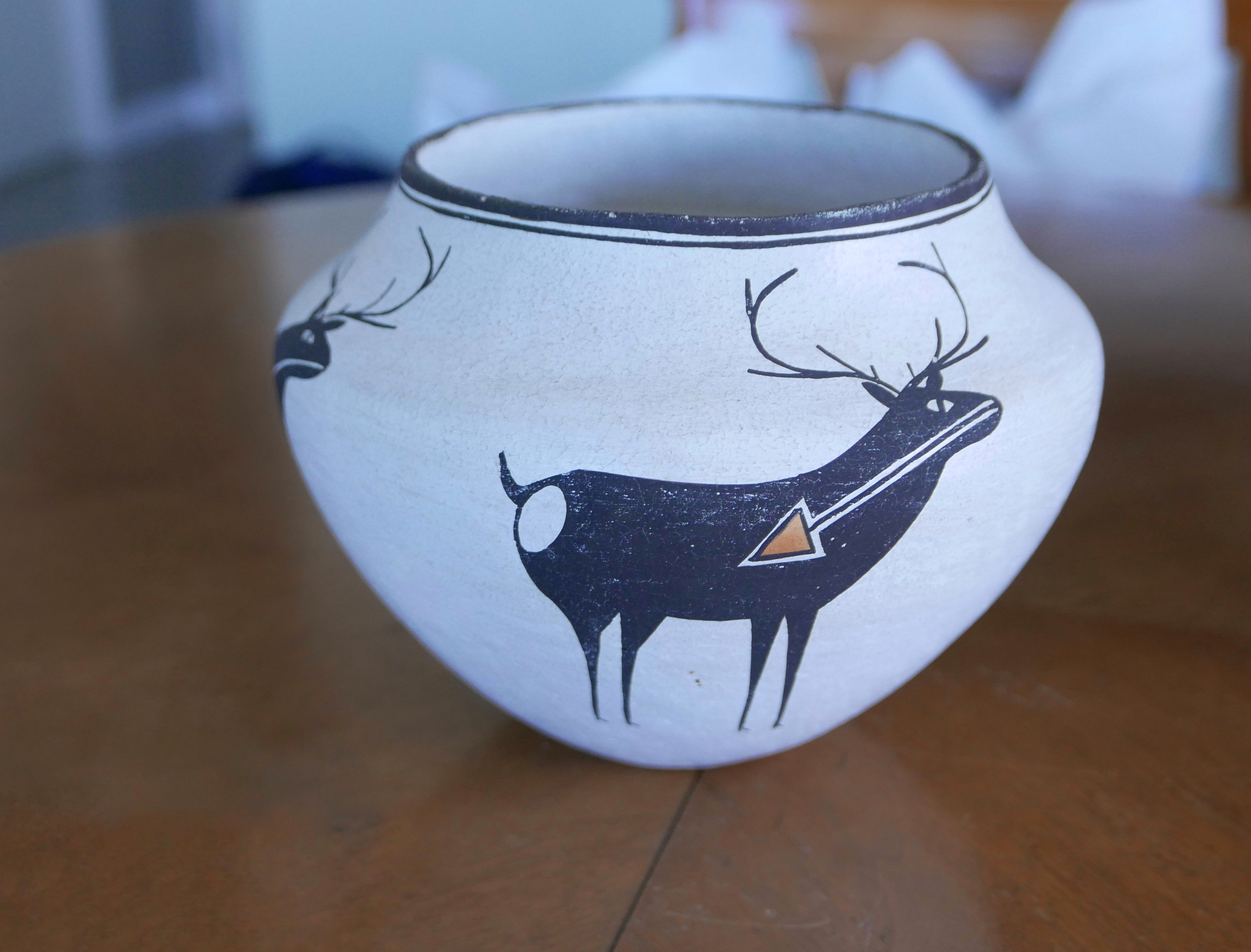 Decorated vessel with animal design