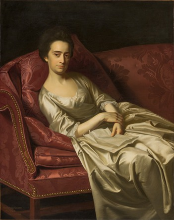 Before Treatment: John Singleton Copley, Portrait of a Lady, 1771, purchased with funds provided by the American Art Council, Anna Bing Arnold, F. Patrick Burns Bequest, Mr. and Mrs. William Preston Harrison Collection, David M. Koester, Art Museum Council, Jo Ann and Julian Ganz, Jr., The Ahmanson Foundation, Ray Stark, and other donors, photo by Yosi Poseilov, © 2013 Museum Associates/LACMA