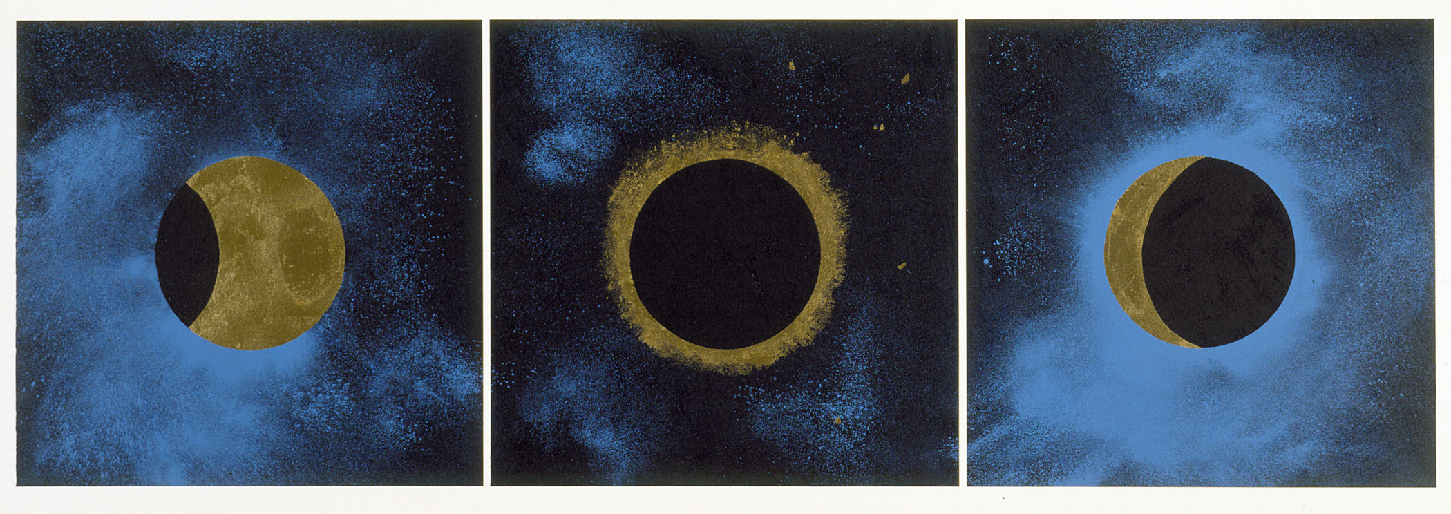Lita Albuquerque, Solar Eclipse, 1992, Los Angeles County Museum of Art, Cirrus Editions Archive, purchased with funds provided by the Ducommun and Gross Endowment Income Fund, and gift of Cirrus Editions, © Lita Albuquerque, photo © Museum Associates/LACMA