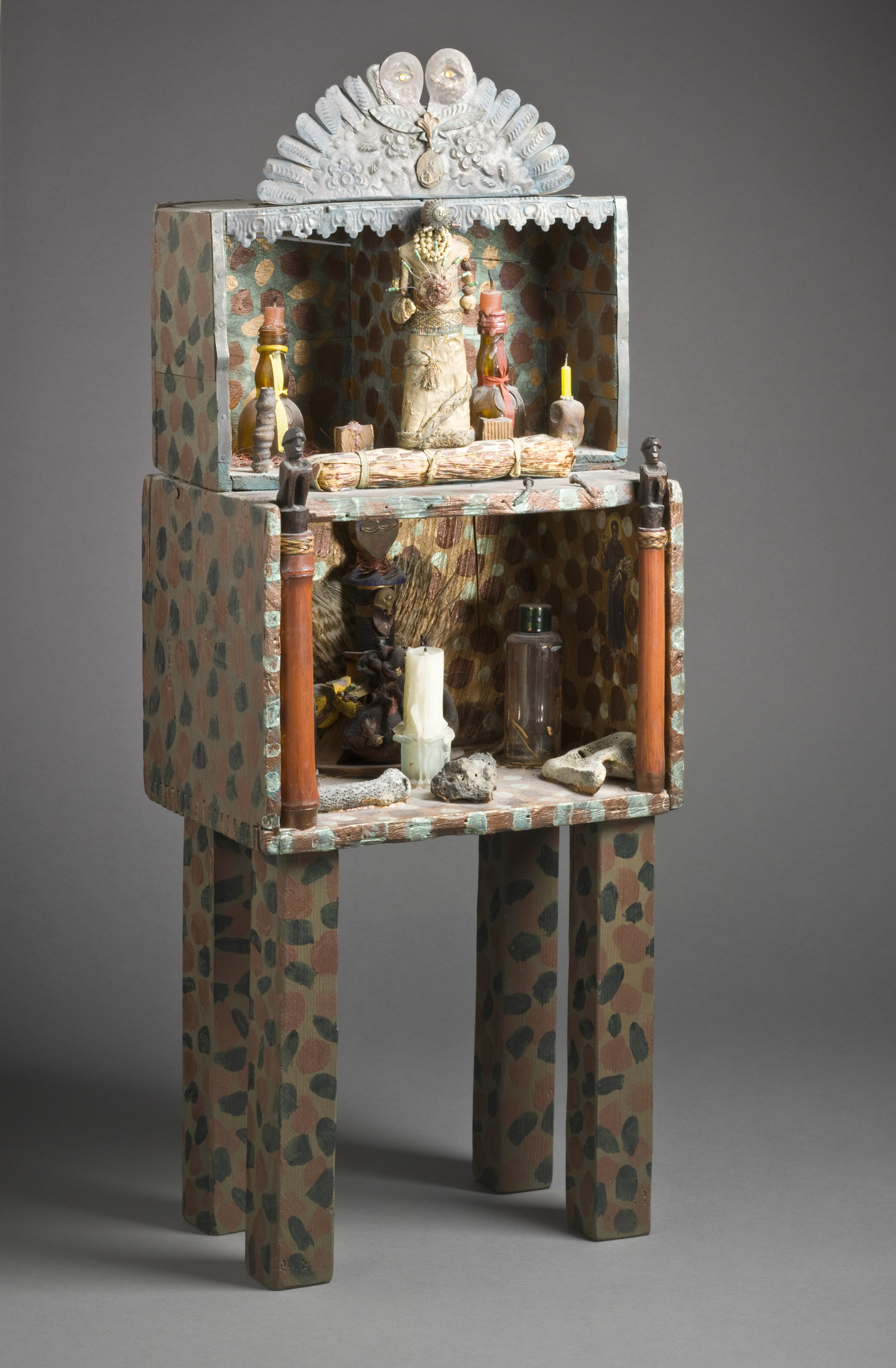 Betye Saar, Gris Gris Guardian, 1990–93, Los Angeles County Museum of Art, purchased with funds provided by the Richard Florsheim Art Fund and the Modern and Contemporary Art Council, © Betye Saar, photo © Museum Associates/LACMA