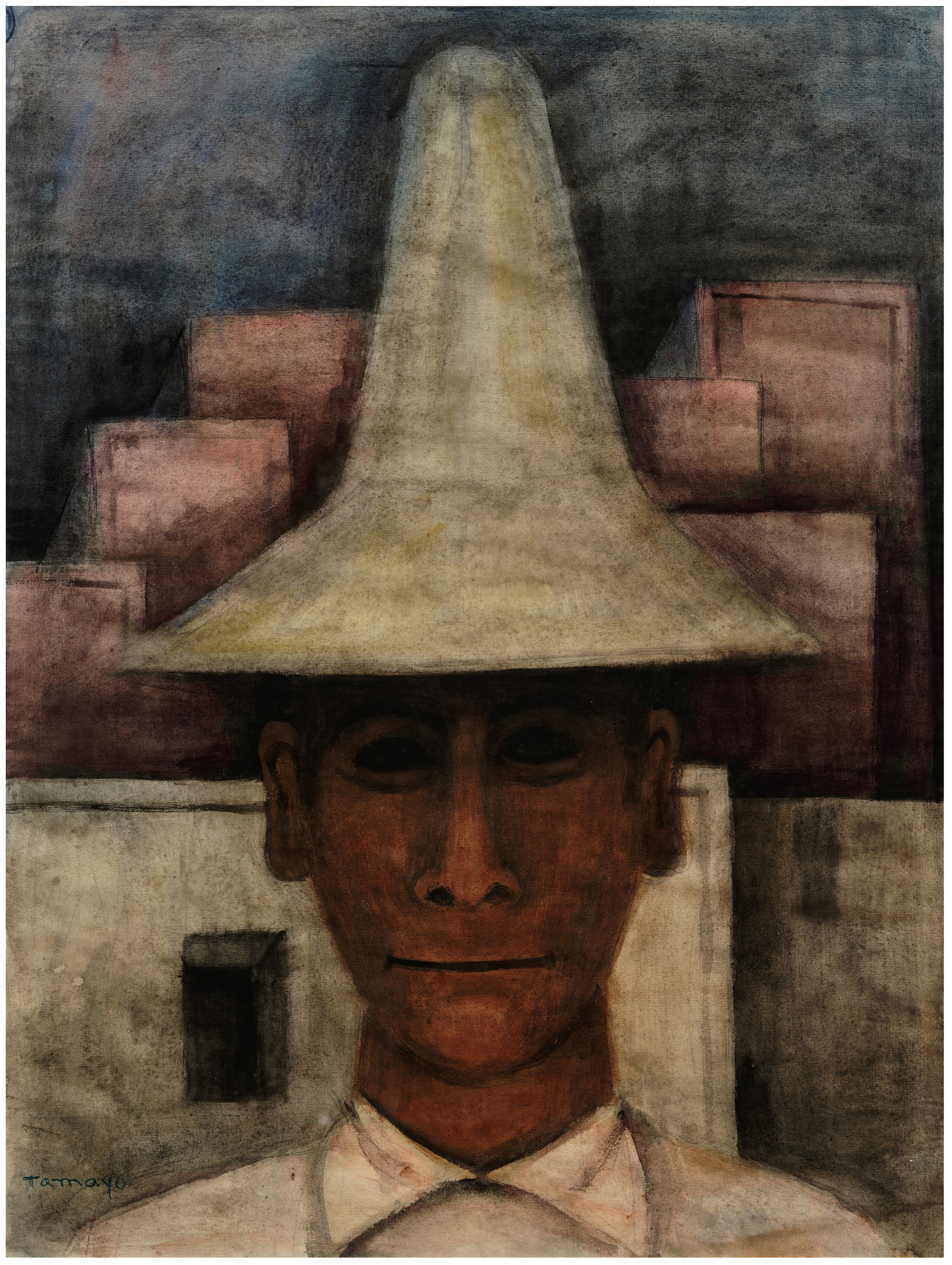 Rufino Tamayo, Man with Tall Hat (Hombre con sombrero alto), c. 1930, Los Angeles County Museum of Art, the Bernard and Edith Lewin Collection of Mexican Art, © 2019 Tamayo Heirs/Mexico/Licensed by VAGA at Artists Rights Society (ARS), NY, photo © Museum Associates/LACMA