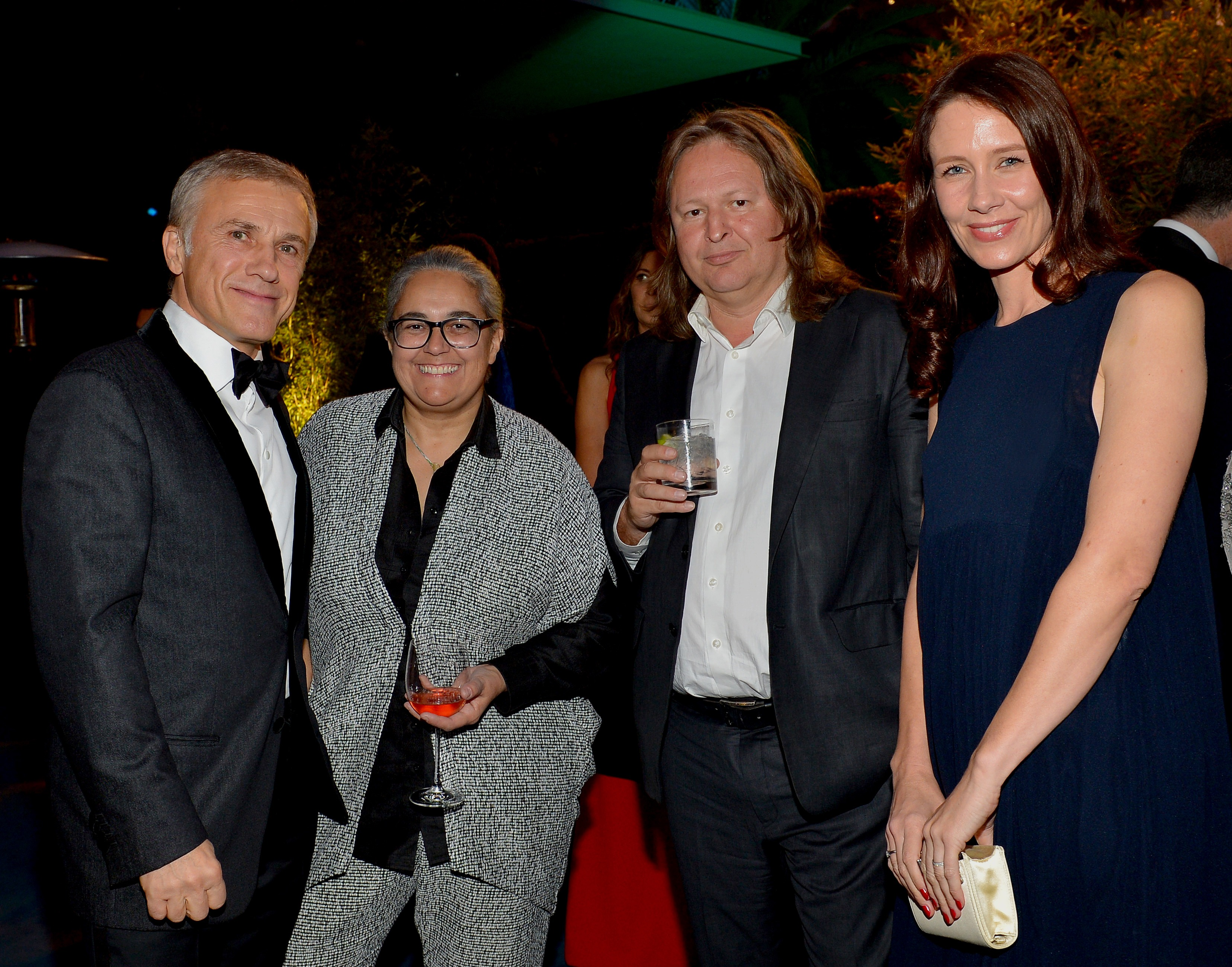 Christoph Waltz, artist Tacita Dean, artist Mathew Hale, and Nana Bahlmann, photo by Donato Sardella/Getty Images for LACMA
