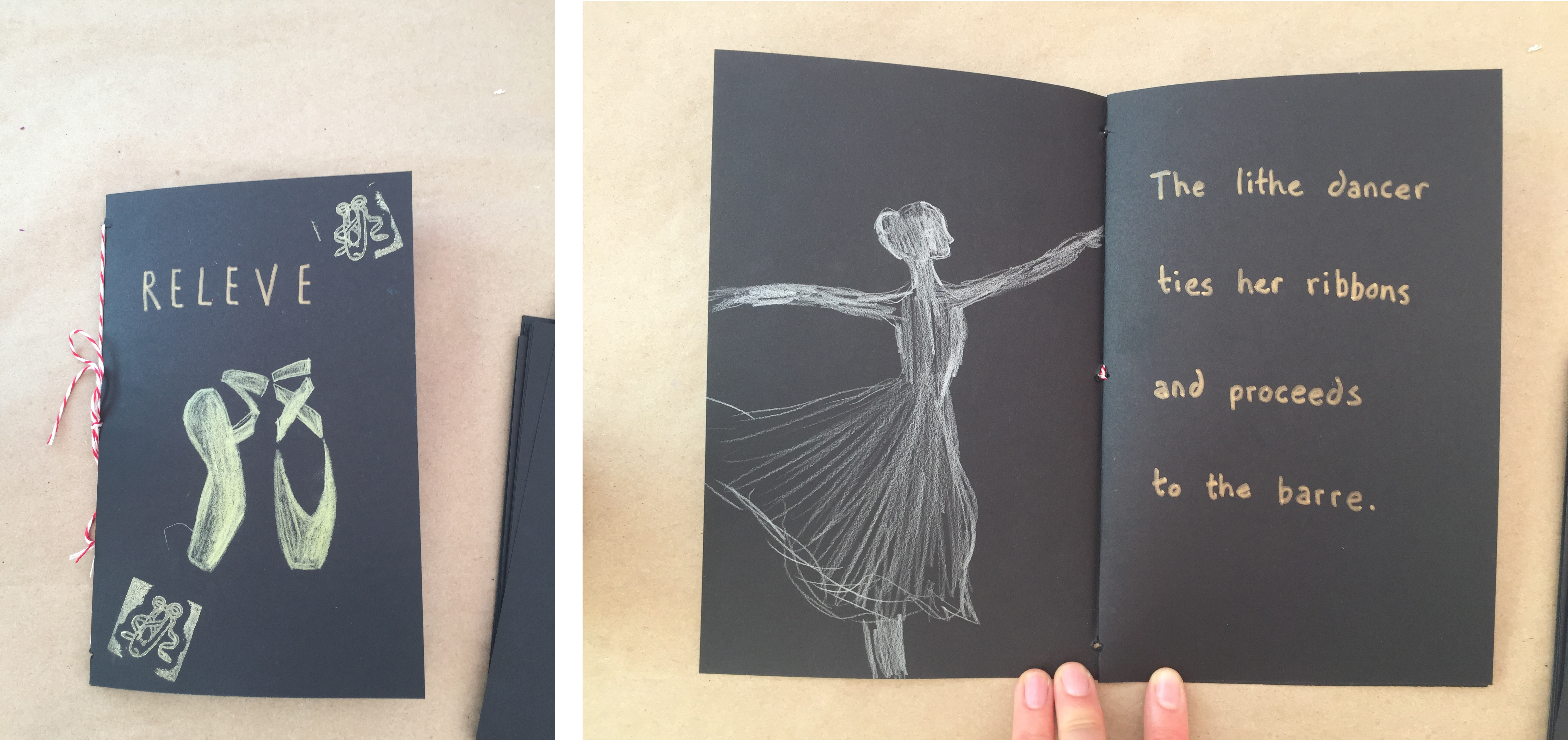 A book created during teaching artist Jenny Ziomek's workshop
