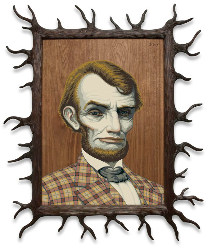 Mark Ryden, Wood Lincoln, 2012, Los Angeles County Museum of Art, gift of the artist in honor of Greg Escalante, © Mark Ryden, photo courtesy of the artist