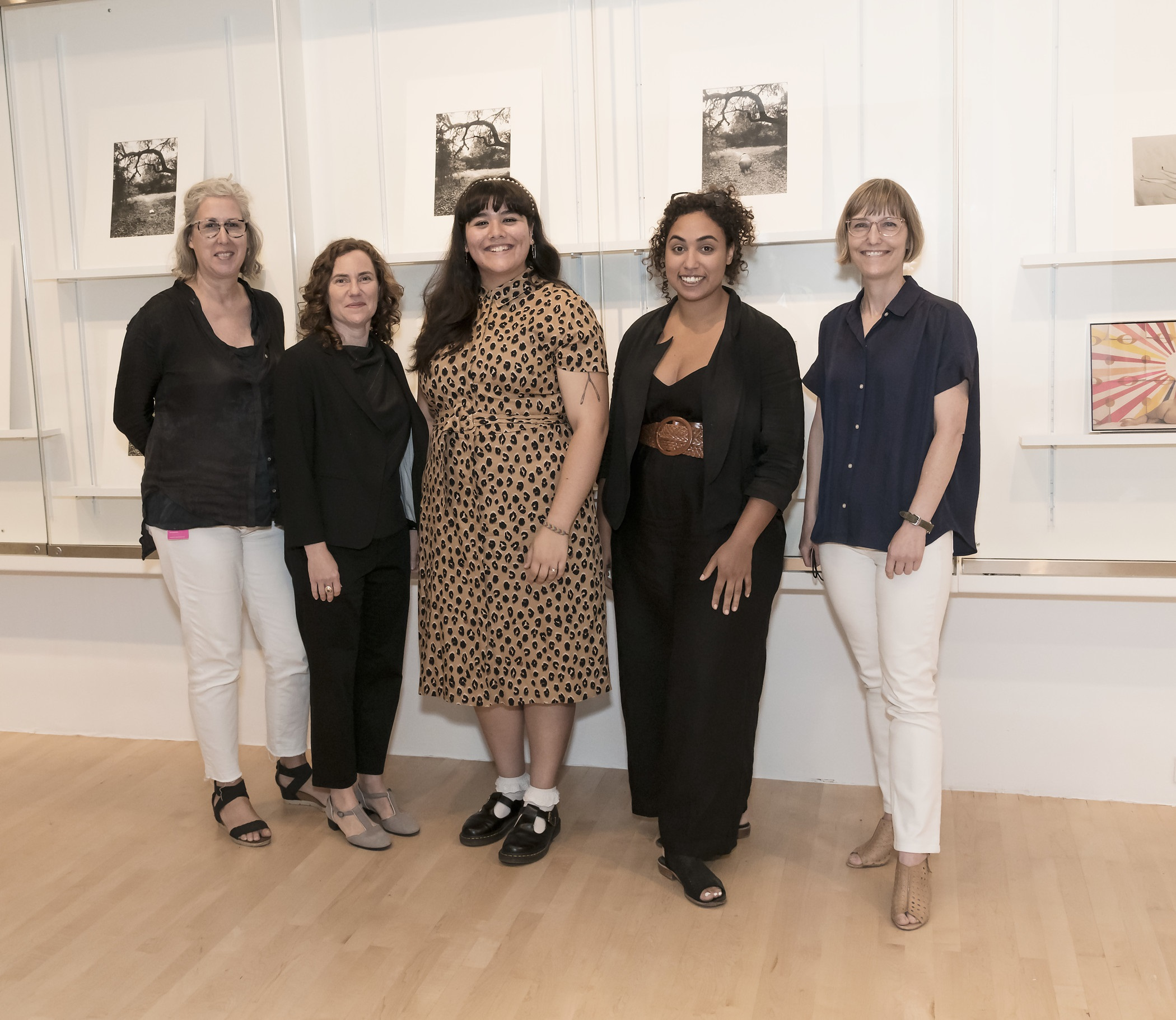 From left: Eve Schillo, Assistant Curator, Photography; Rebecca Morse, Curator, Photography; Danielle Pesqueira, 2018–20 Mellon Undergraduate Curatorial Fellow; Dhyandra Lawson, Curatorial Assistant, Photography; and Britt Salvesen, Department Head and Curator of Photography and Prints & Drawings