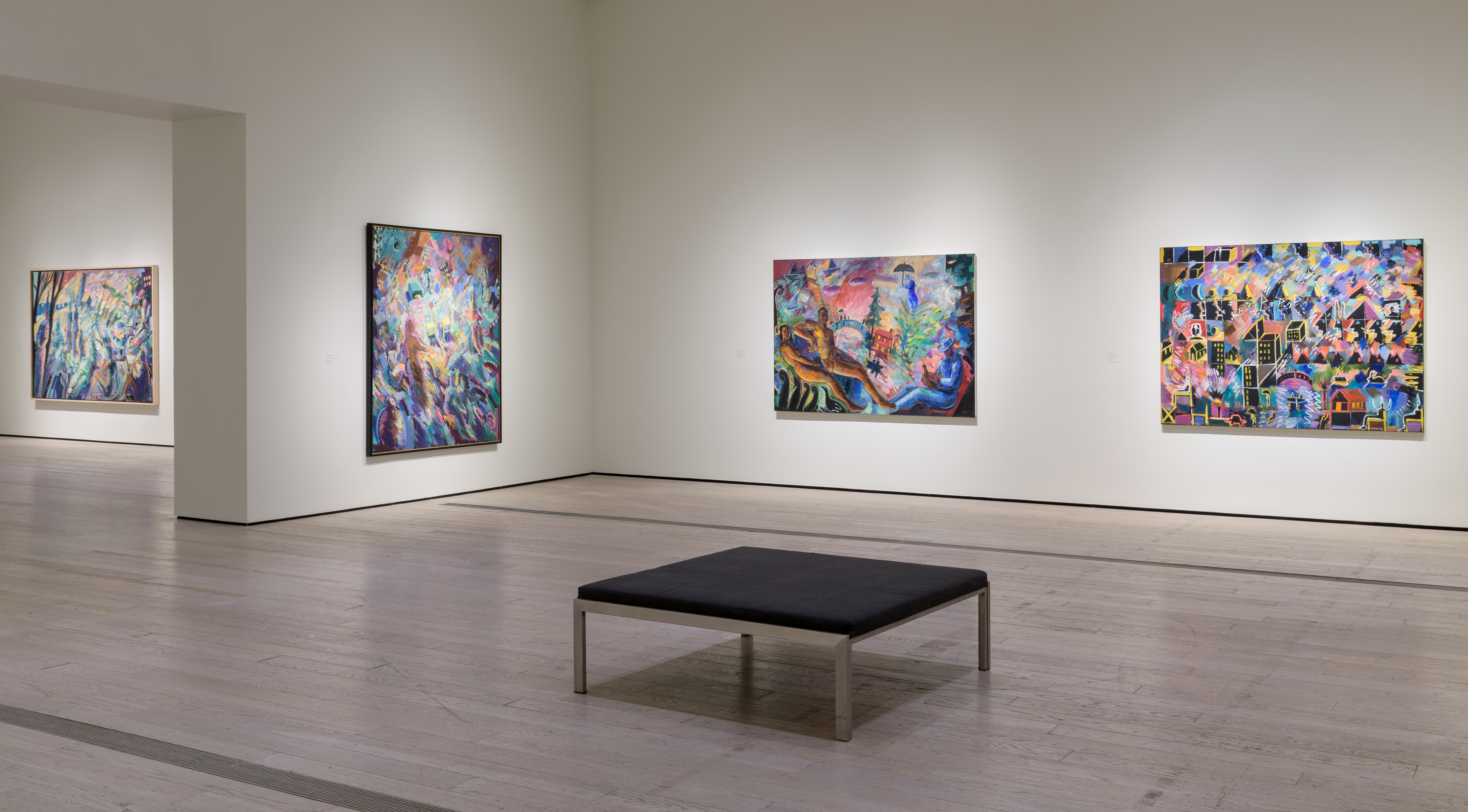 Installation photograph, Playing with Fire: Paintings by Carlos Almaraz, Los Angeles County Museum of Art, August 6–December 8, 2017, art © Carlos Almaraz Estate, photo © Museum Associates/LACMA
