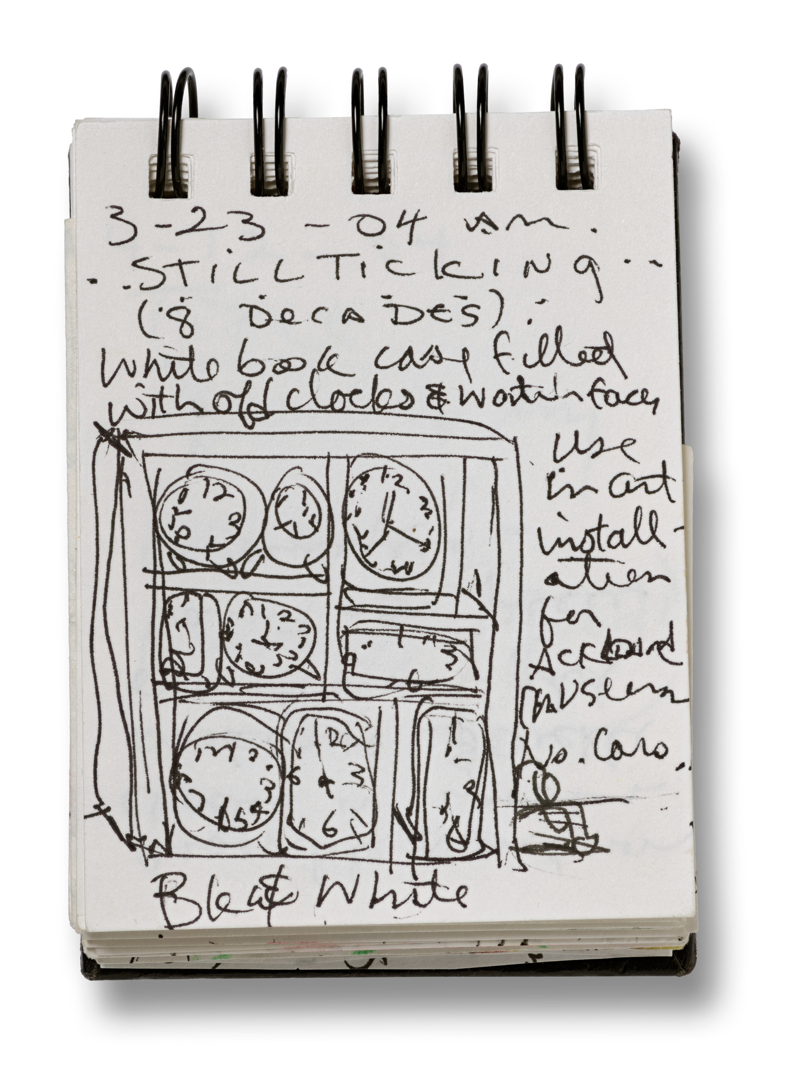 Betye Saar, page from 2004 sketchbook, March 23, 2004, collection of Betye Saar, courtesy of the artist and Roberts Projects, Los Angeles, ©Betye Saar, photo © Museum Associates/LACMA