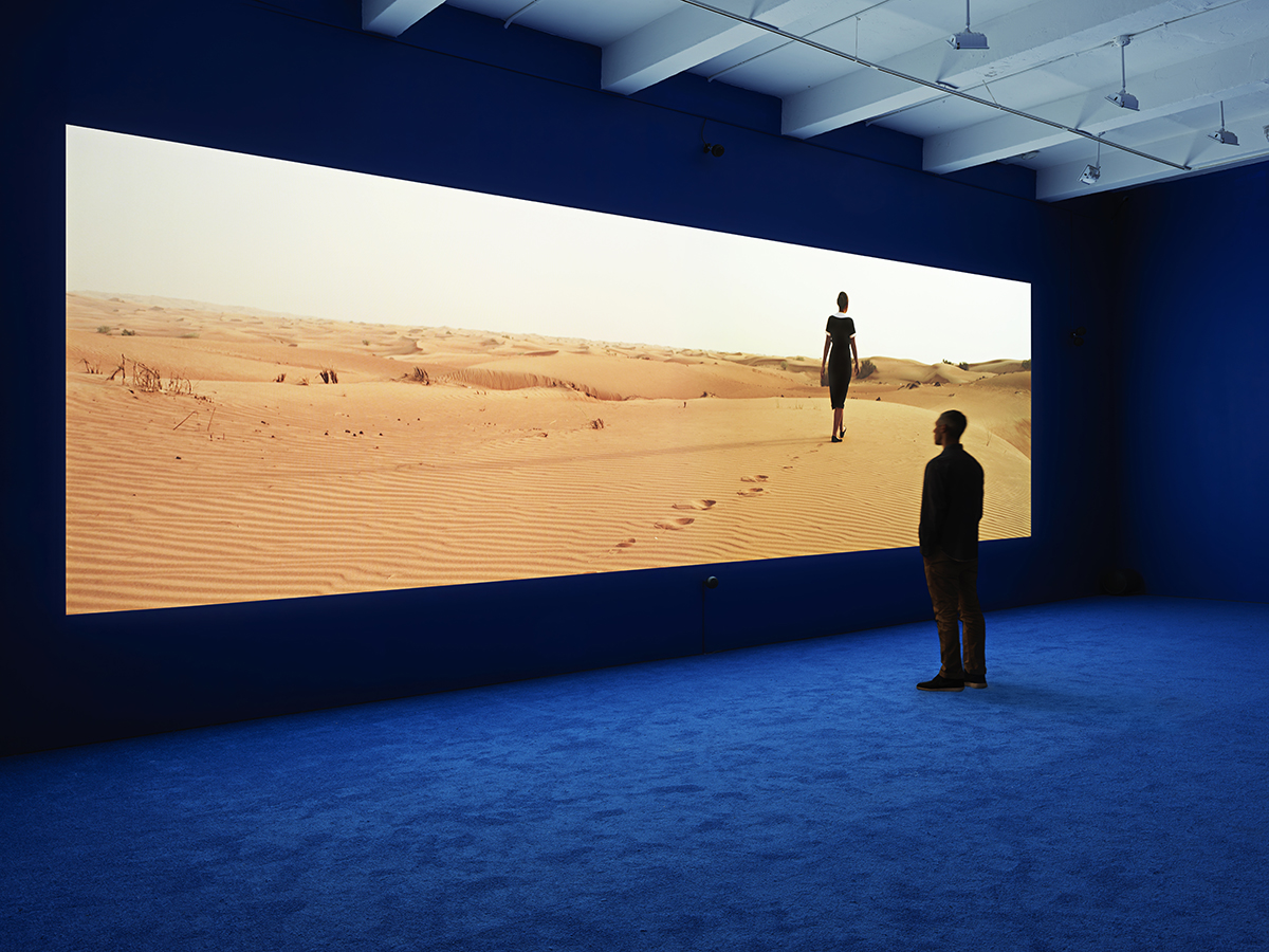 Isaac Julien, PLAYTIME, 2013, Los Angeles County Museum of Art, gift of Sheridan Brown, installation view, Metro Pictures, New York, 2013, © Isaac Julien, photo courtesy the artist and Metro Pictures, New York, photograph: Genevieve Hanson