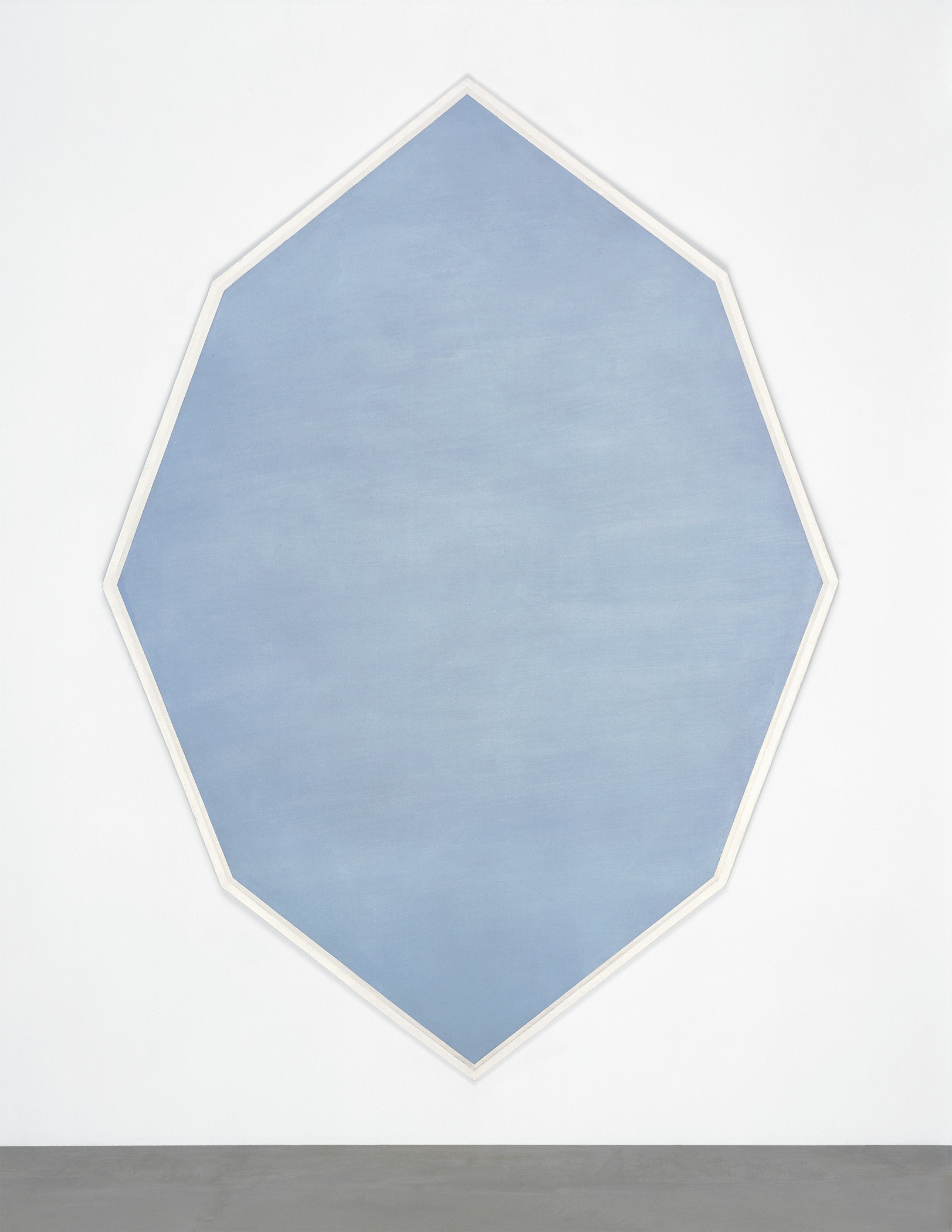 Mary Corse, Untitled (Octagonal Blue), 1964, collection of the artist, courtesy Kayne Griffin Corcoran, Lisson Gallery, and Pace Gallery, © Mary Corse, photograph © Mary Corse