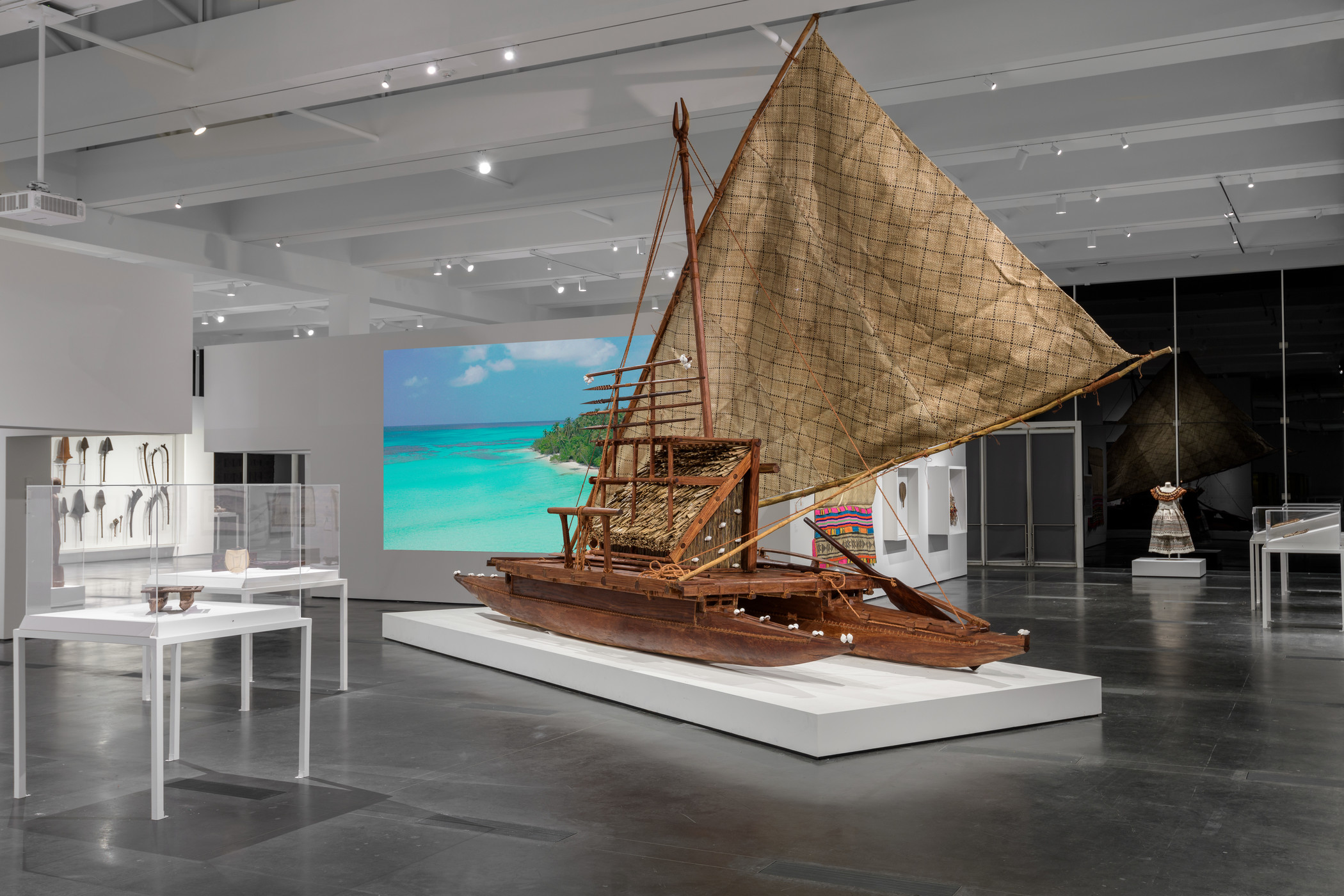 Installation photograph, Fiji: Art & Life in the Pacific, Los Angeles County Museum of Art, 2019–20, photo © Museum Associates/LACMA