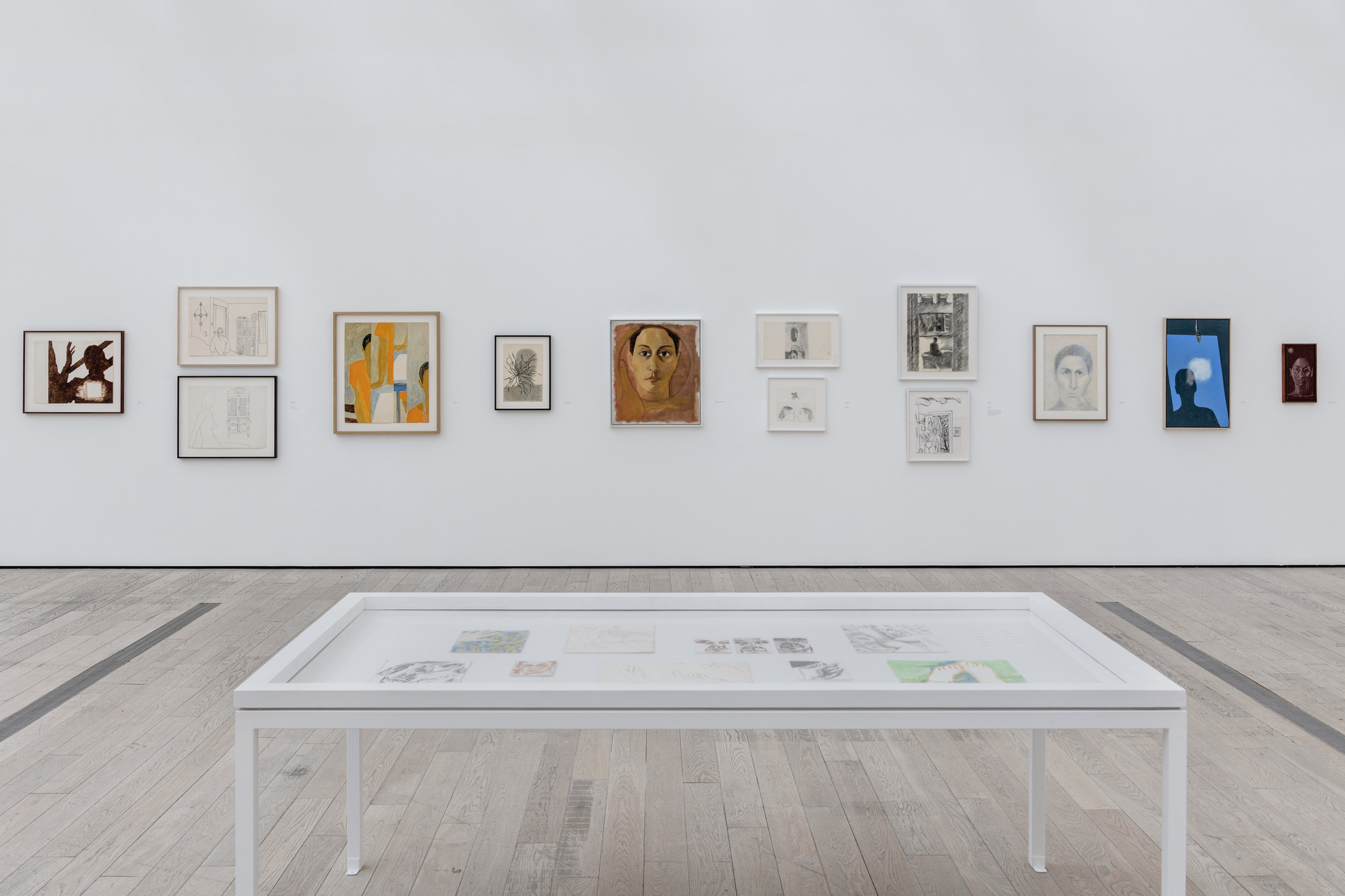Installation view, Luchita Hurtado: I Live I Die I Will Be Reborn, Los Angeles County Museum of Art, February 15–May 3, 2020, art © Luchita Hurtado, photo © Museum Associates/LACMA
