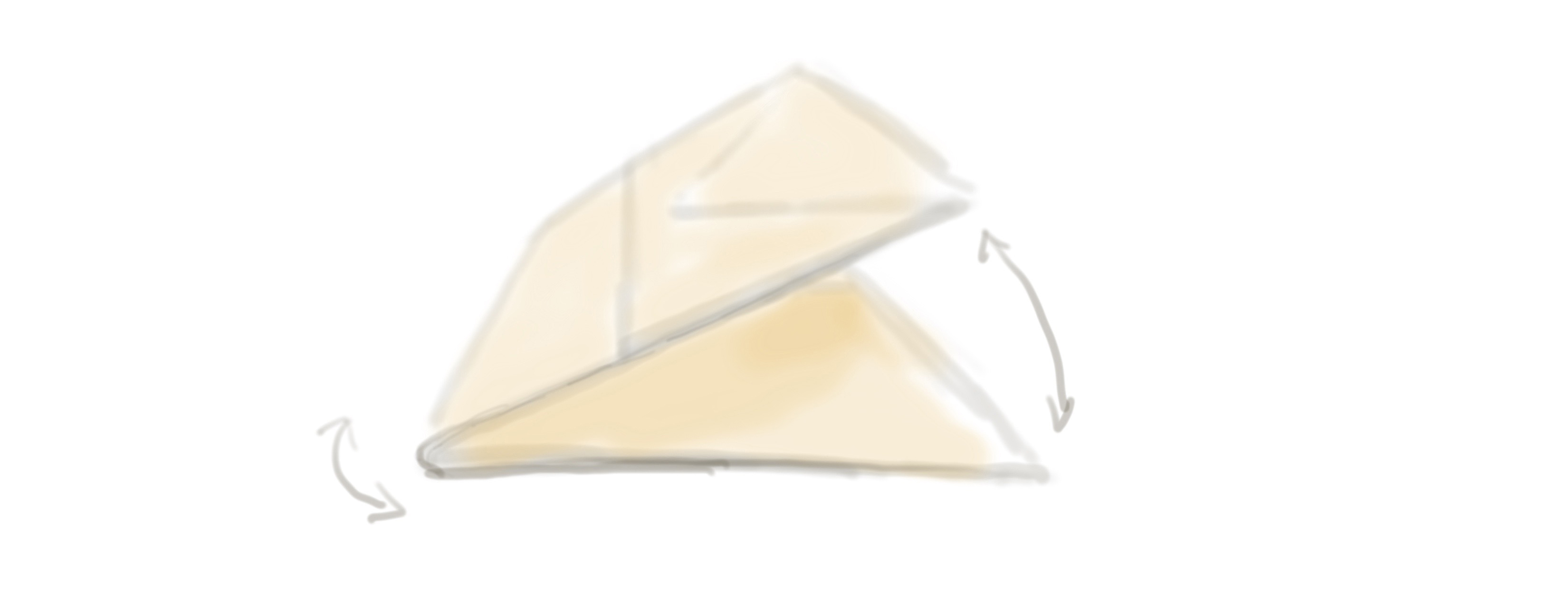 drawing of folding the bag in half