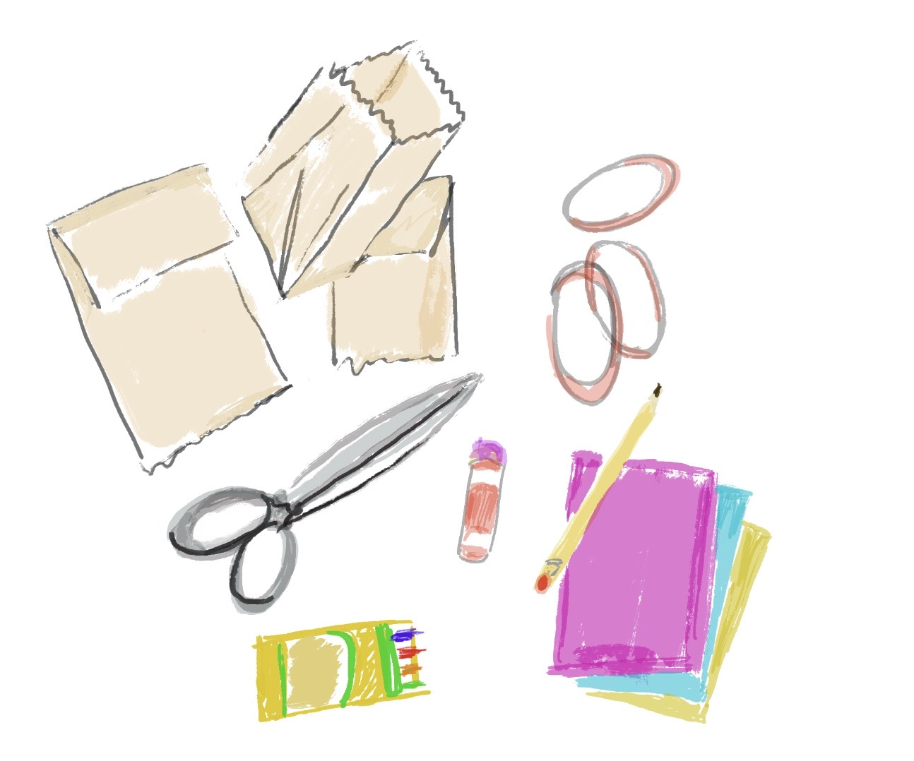 drawing of supplies