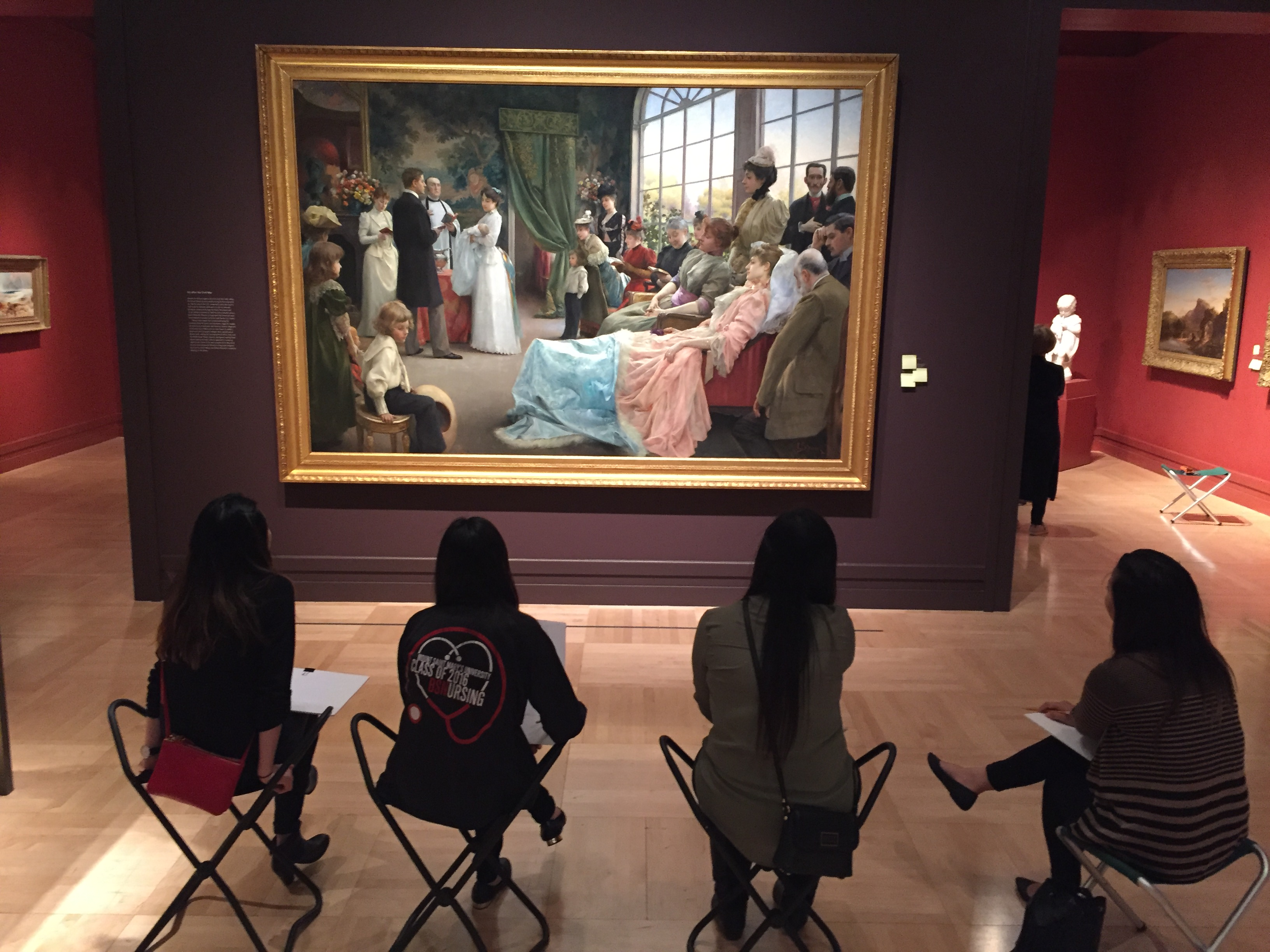an examination of the painting the baptism by julius stewart Master paintings of the world - julius leblanc stewart  although he resides  permanently in paris, america claims julius l stewart as  the baptism and bio.