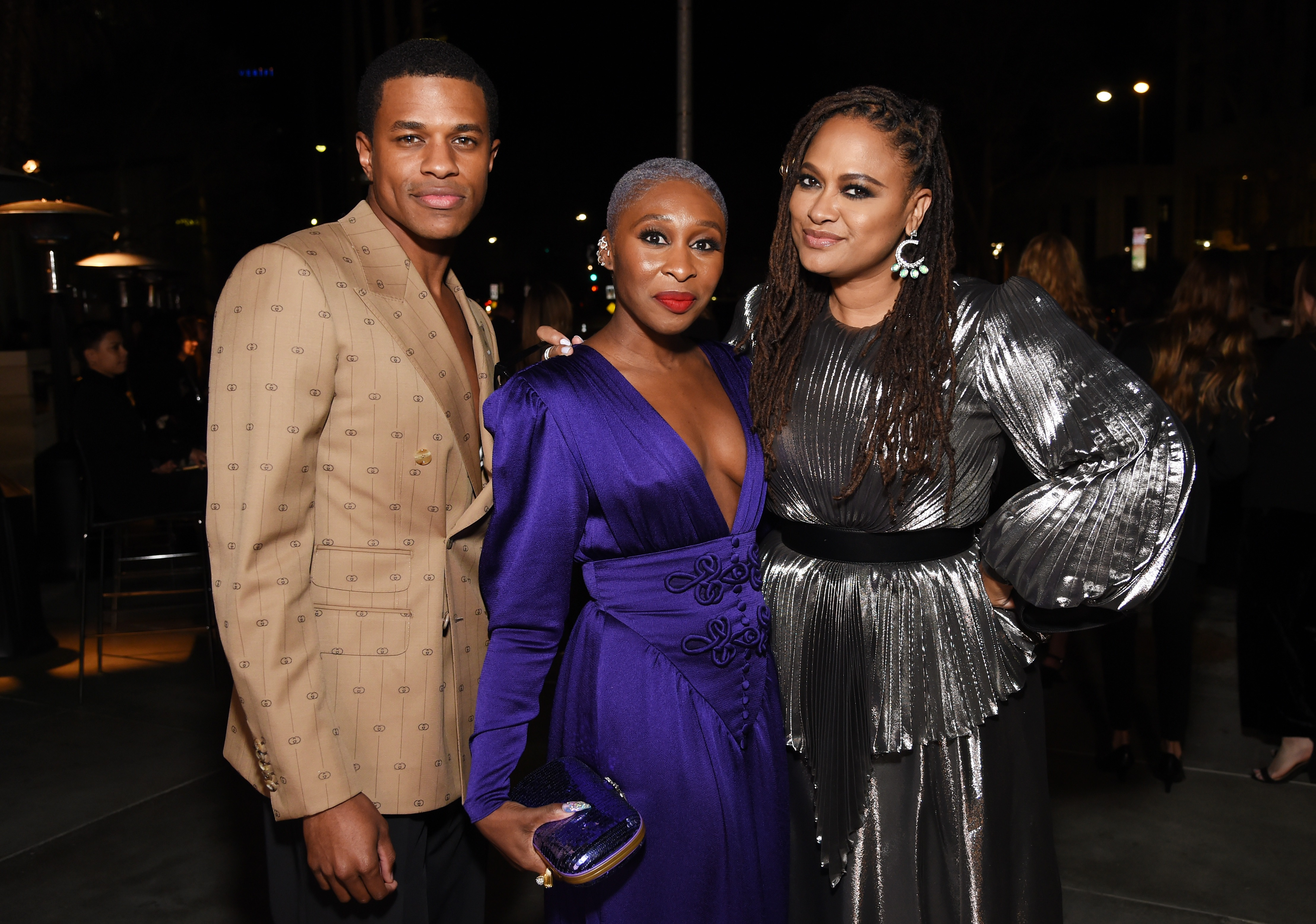 Jeremy Pope, Cynthia Erivo, and Ava DuVernay, photo by Michael Kovac/Getty Images for LACMA