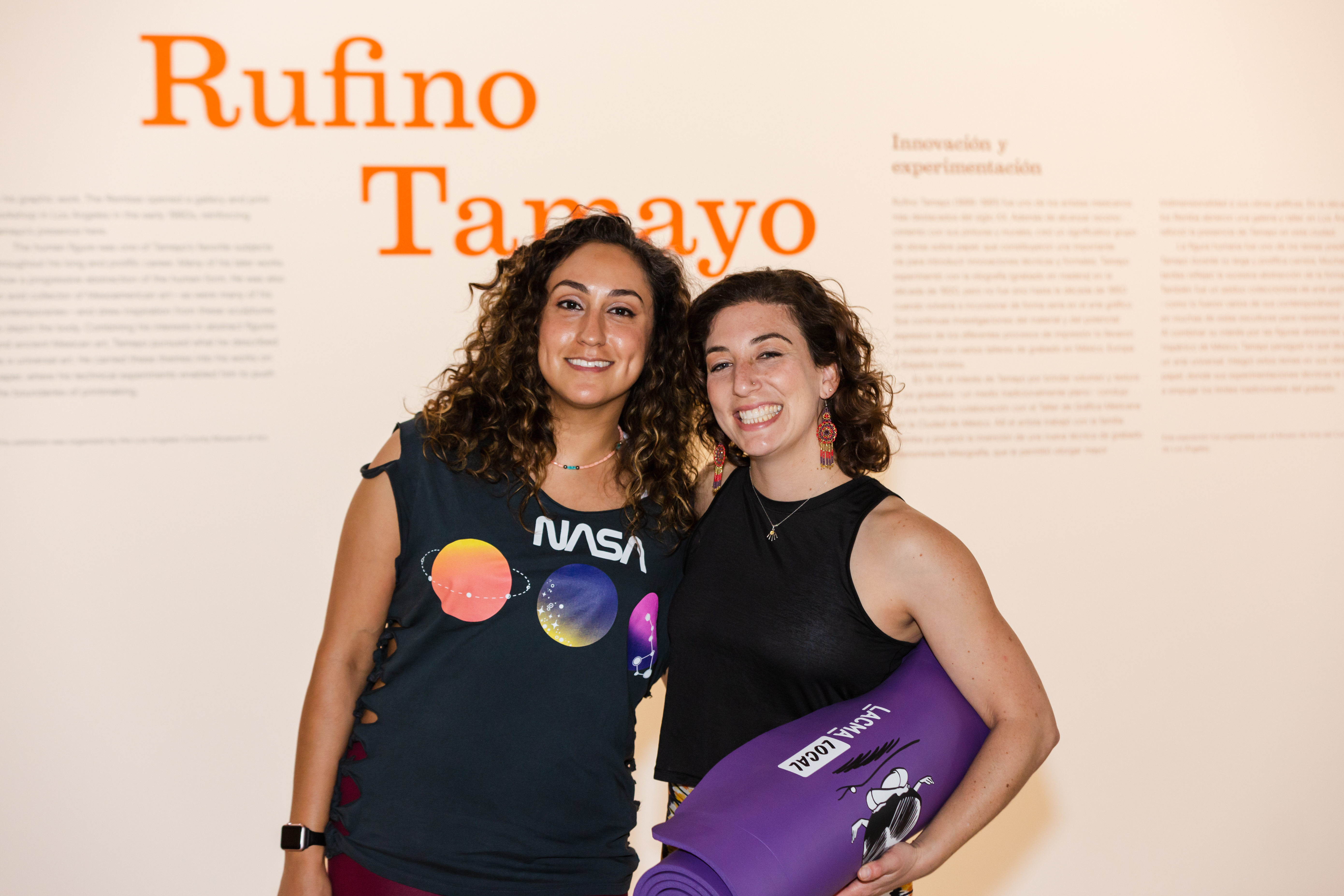 Teresa Flores (left) and Rebecca Plevin (right) at TamaYoga, photo ©️ Museum Associates/LACMA, by HRDWRKER