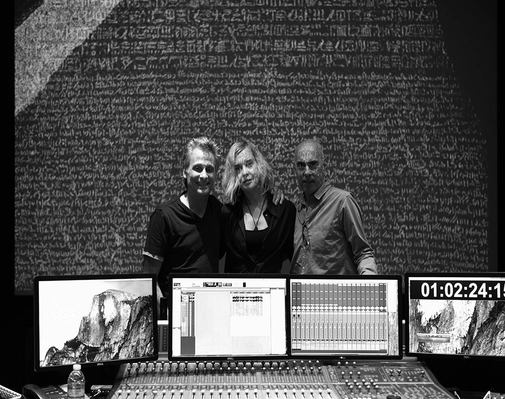Last Whispers creator Lena Herzog and sound designers and composers Marco Capalbo and Mark Mangini