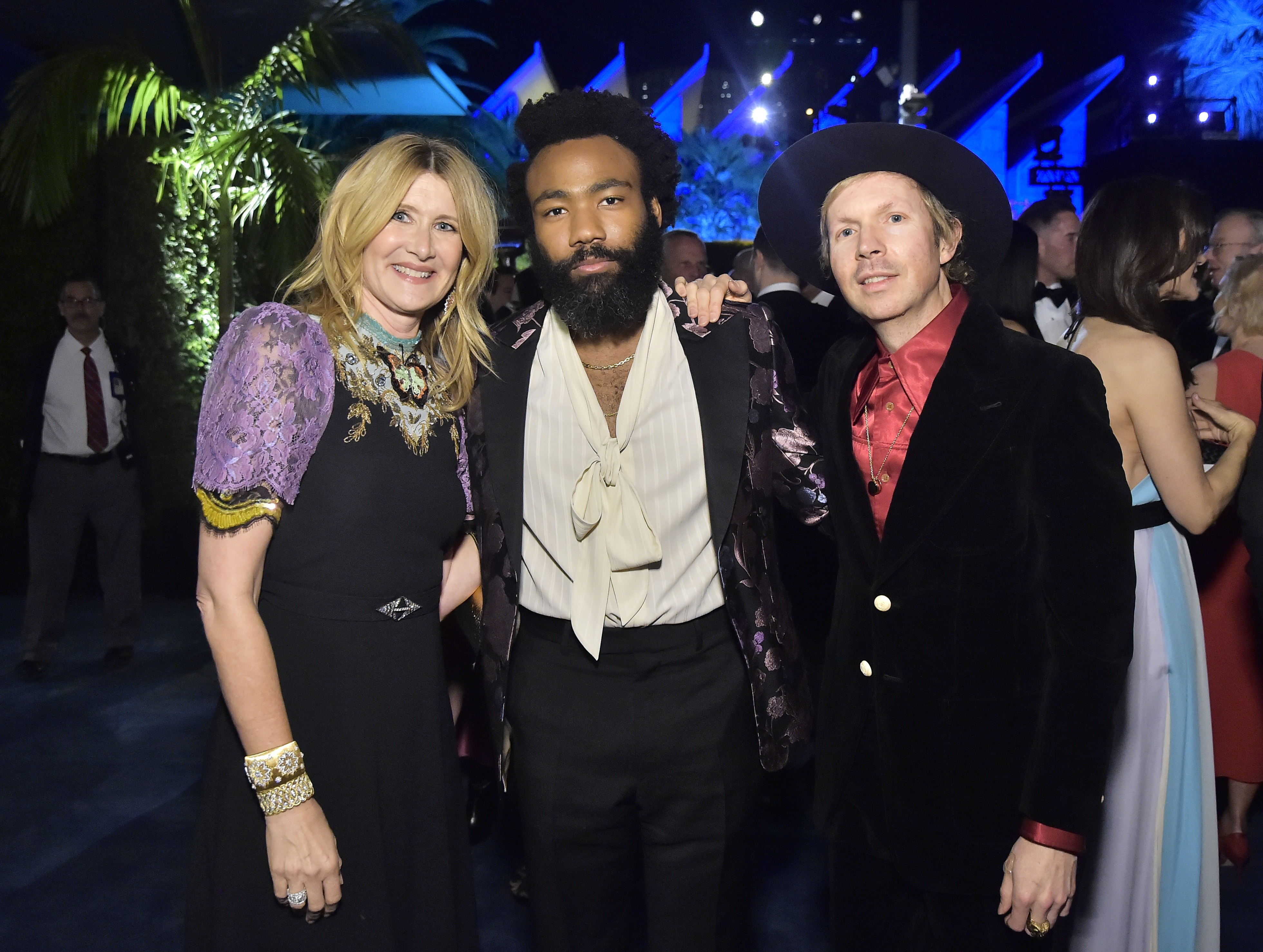 Laura Dern, Donald Glover, and Beck, photo by Stefanie Keenan/Getty Images for LACMA