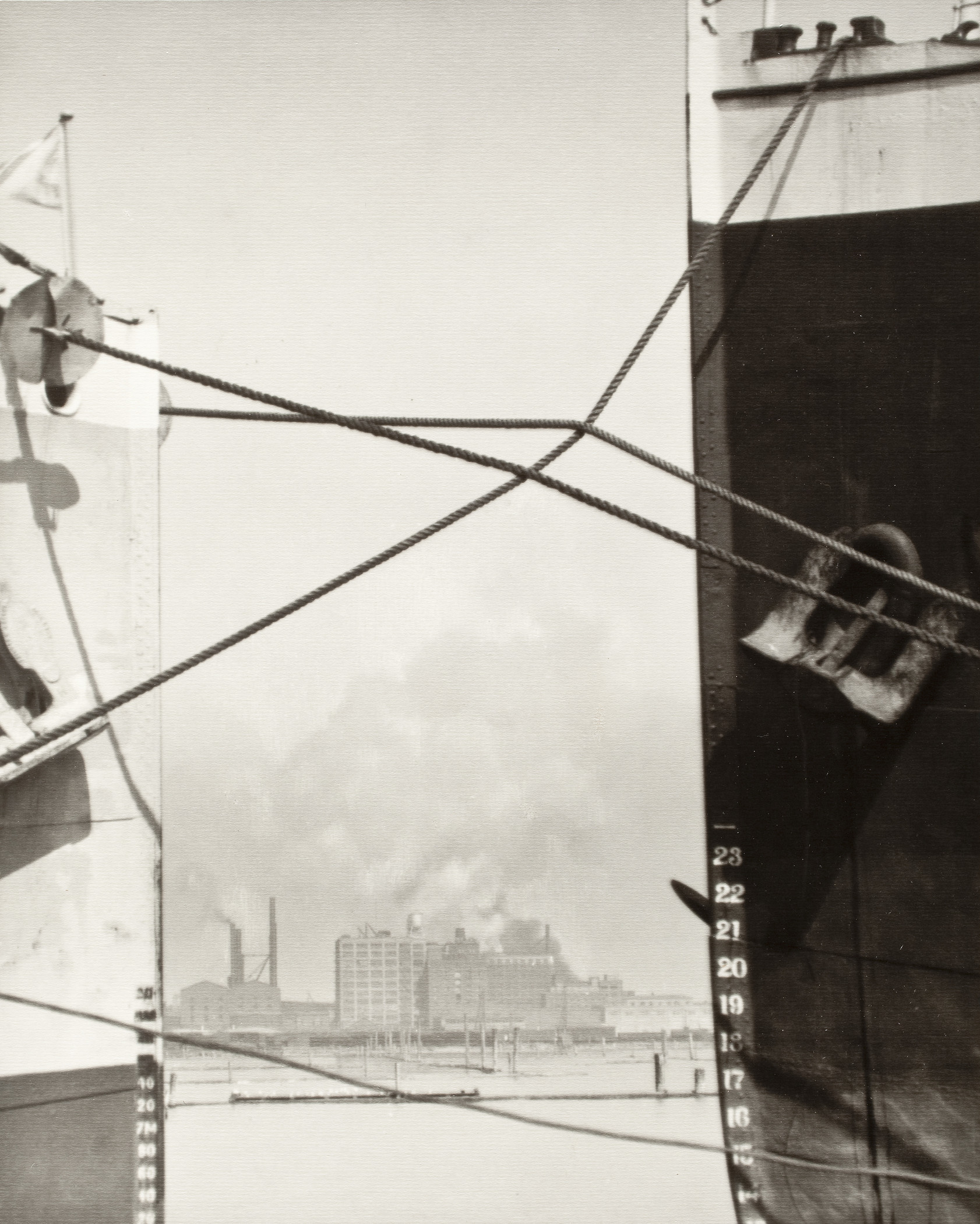William Edward Dassonville, Ropes Between Boats, 1920s, Los Angeles County Museum of Art, The Marjorie and Leonard Vernon Collection, gift of The Annenberg Foundation, acquired from Carol Vernon and Robert Turbin, © Estate of William E. Dassonville
