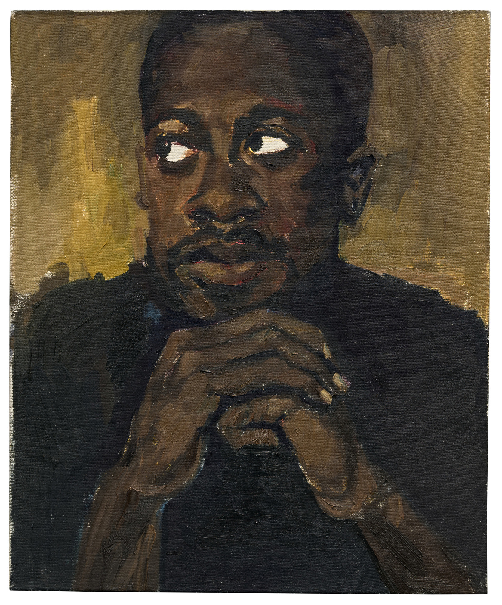 Lynette Yiadom-Boakye, A Few For the Many, 2013, Los Angeles County Museum of Art, purchased with funds provided by Pamela Joyner and Alfred Giuffrida, © Lynette Yiadom-Boakye, courtesy of the artist, Jack Shainman Gallery, New York and Corvi-Mora, London, photo © Museum Associates/LACMA