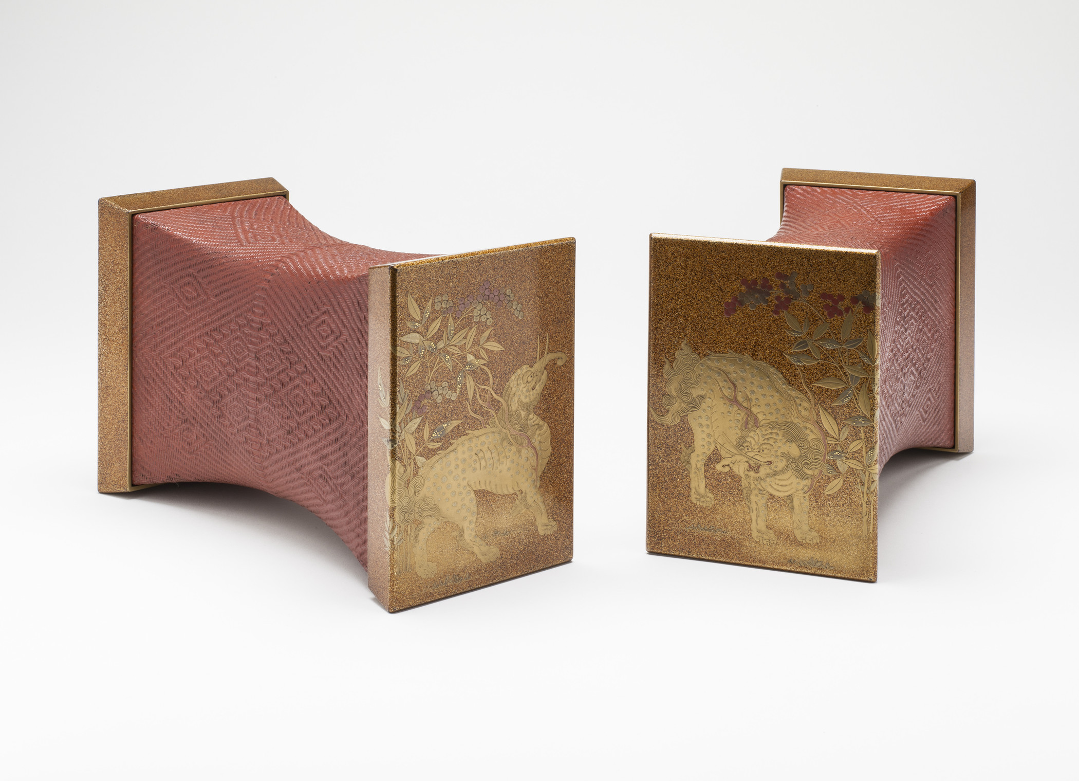 Pair of Pillows with Baku Design, Edo period, 1615–1868, c. 1800, Los Angeles County Museum of Art, gift of Sue Tsao, photo © Museum Associates/LACMA
