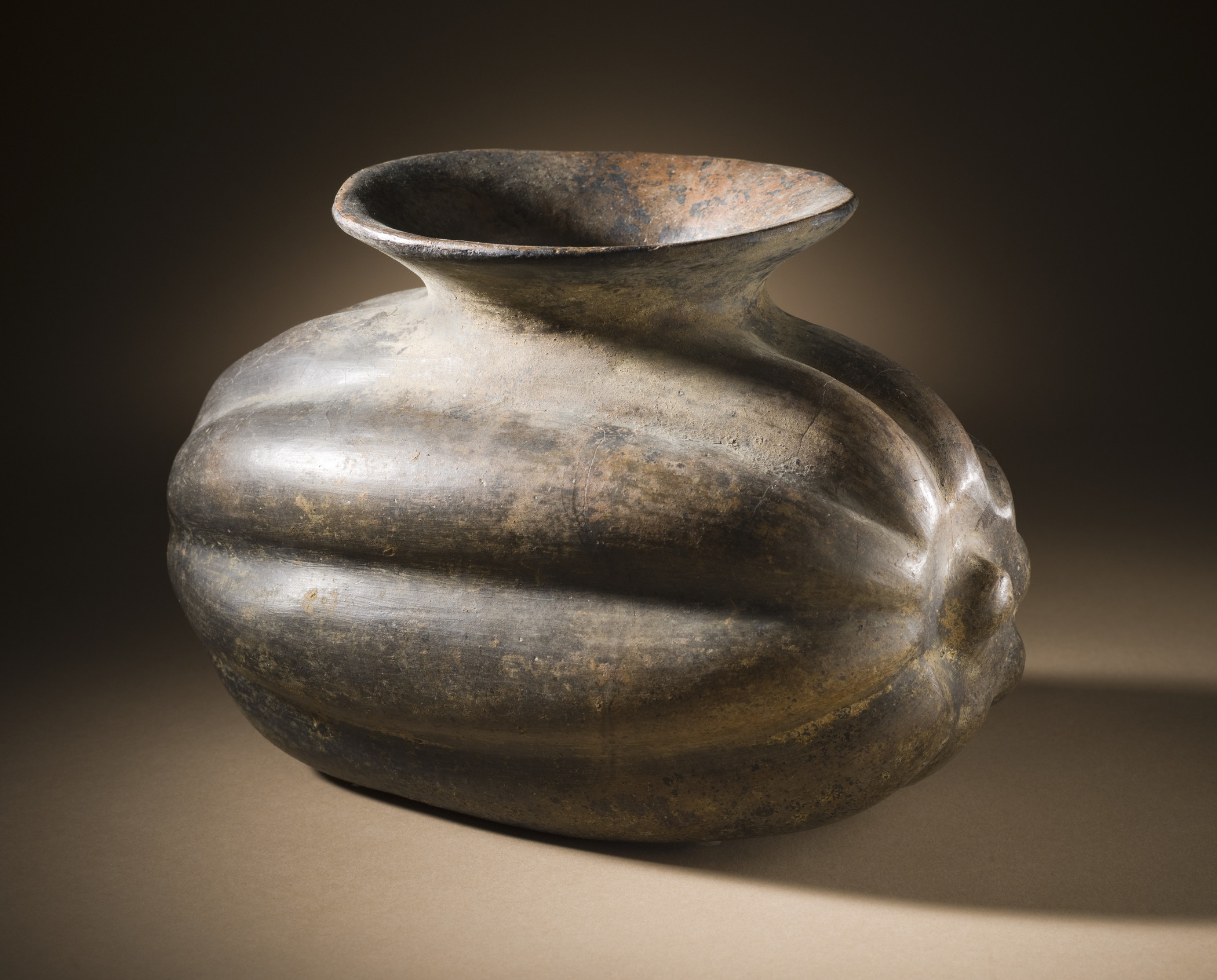 Squash Vessel, Mexico, Colima, 200 BCE–CE 500, Los Angeles County Museum of Art, The Proctor Stafford Collection, purchased with funds provided by Mr. and Mrs. Allan C. Balch, photo © Museum Associates/LACMA