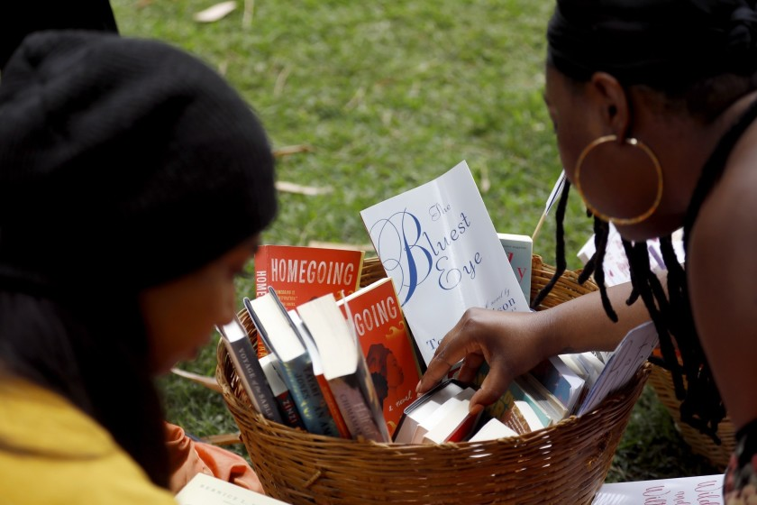 Participants at a Free Black Women's Library - LA event at the Huntington Library, image credit: Francine Orr, LA Times