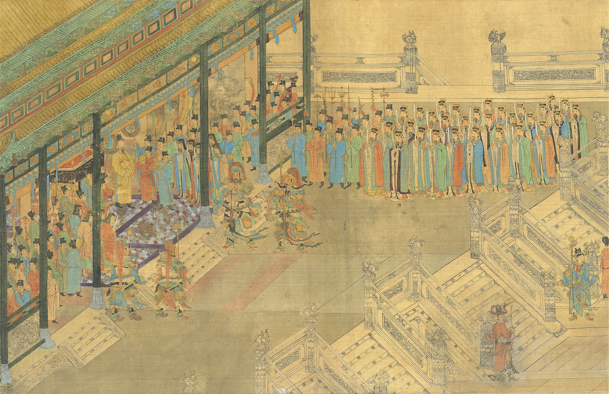 Painting depicting scholars at a palace