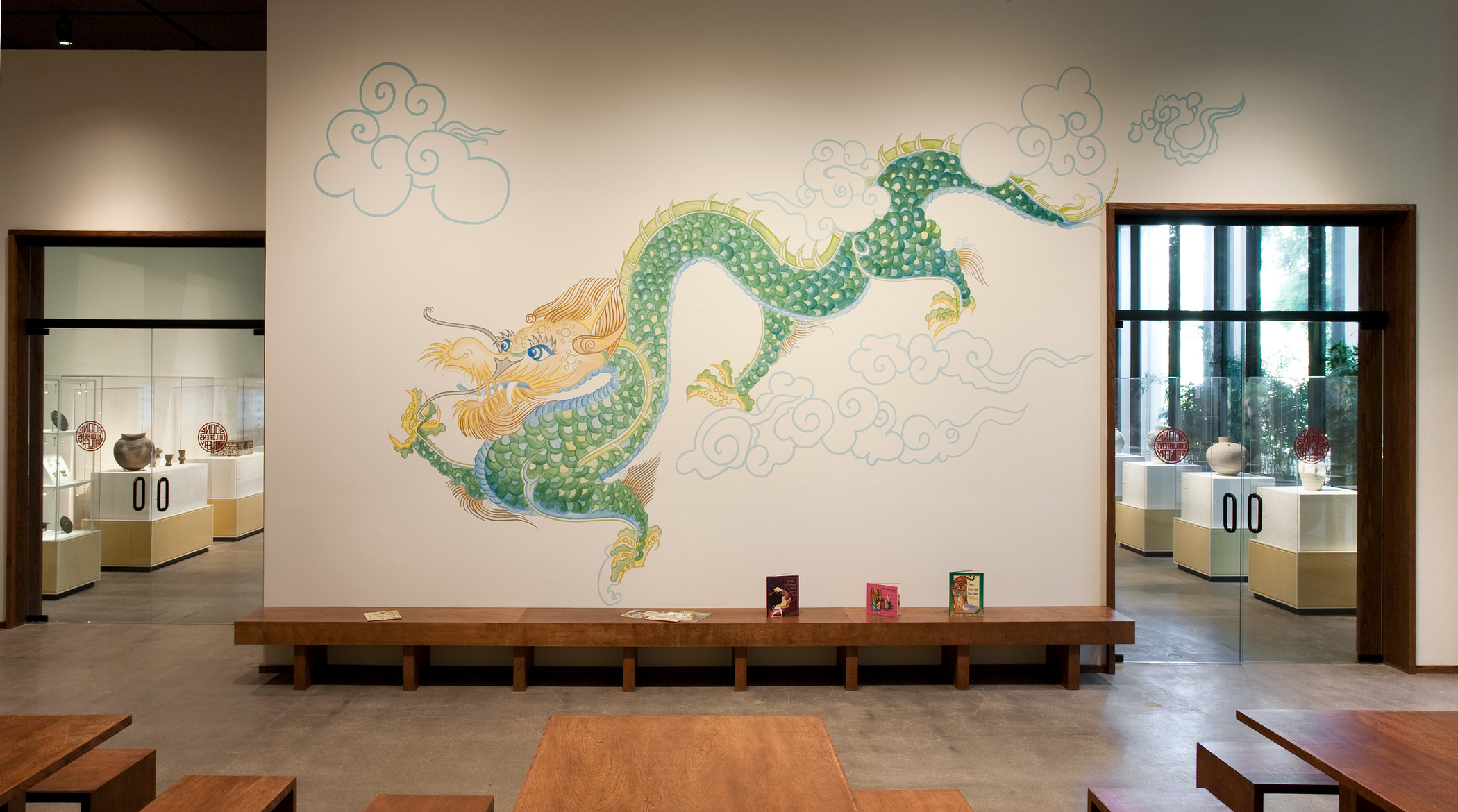Sid the Dragon in the Boone Children's Gallery at the Los Angeles County Museum of Art, photo © Museum Associates/LACMA