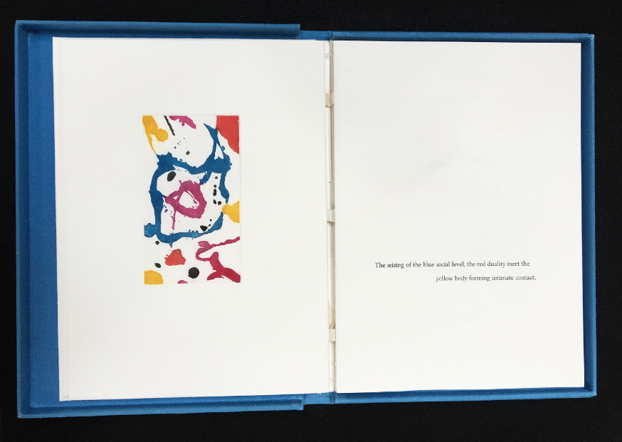 Sam Francis, Boundayr, 1988, poem by Kathleen Fraser with 6 original aquatints by Sam Francis, photo courtesy The Lapis Press