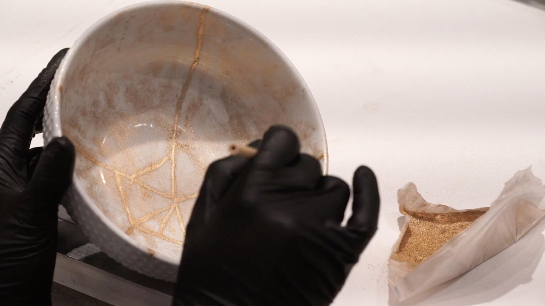 Repairing cracked bowl