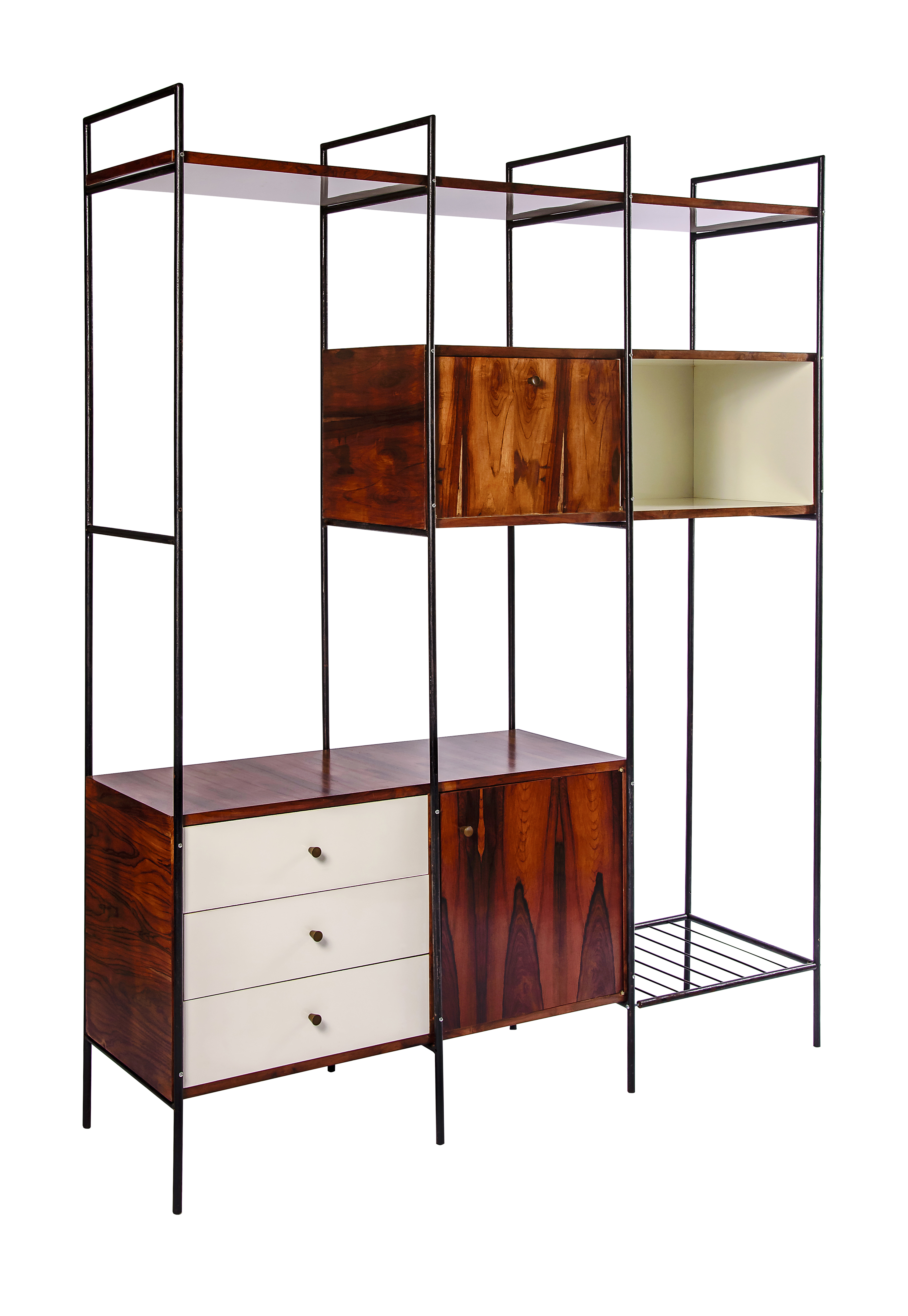 Geraldo de Barros, Shelving Unit MF 710 (Estante MF 710; manufactured by Unilabor), 1954, Los Angeles County Museum of Art, purchased with funds provided by the Bernard and Edith Lewin Collection of Mexican Art Deaccession Fund