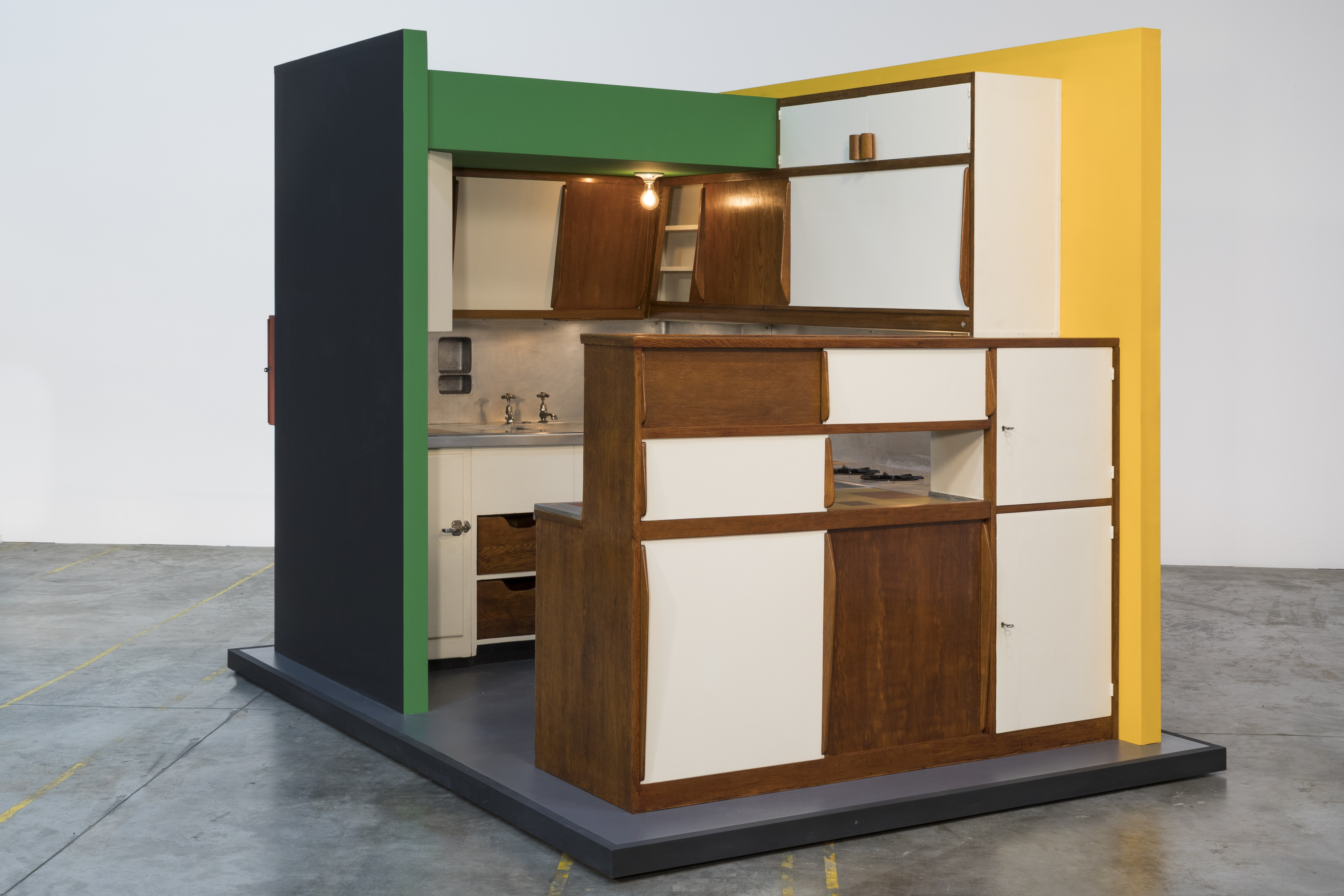 Charlotte Perriand, Le Corbusier, building architect, Kitchen for an apartment in Le Corbusier's Unité d'Habitation, designed 1948–50, made c. 1952, gift of the 2019 Collectors Committee, photo © Studio Shapiro