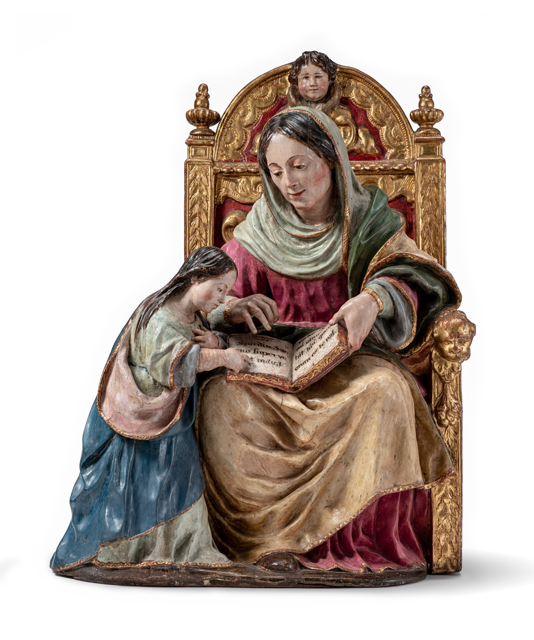 Luisa Roldán, called La Roldana, The Education of the Virgin, early 1680s, gift of the 2019 Collectors Committee with additional funds from Linda Borick and Bill Davidson on behalf of the Louis L. Borick Foundation, photo © Museum Associates/LACMA