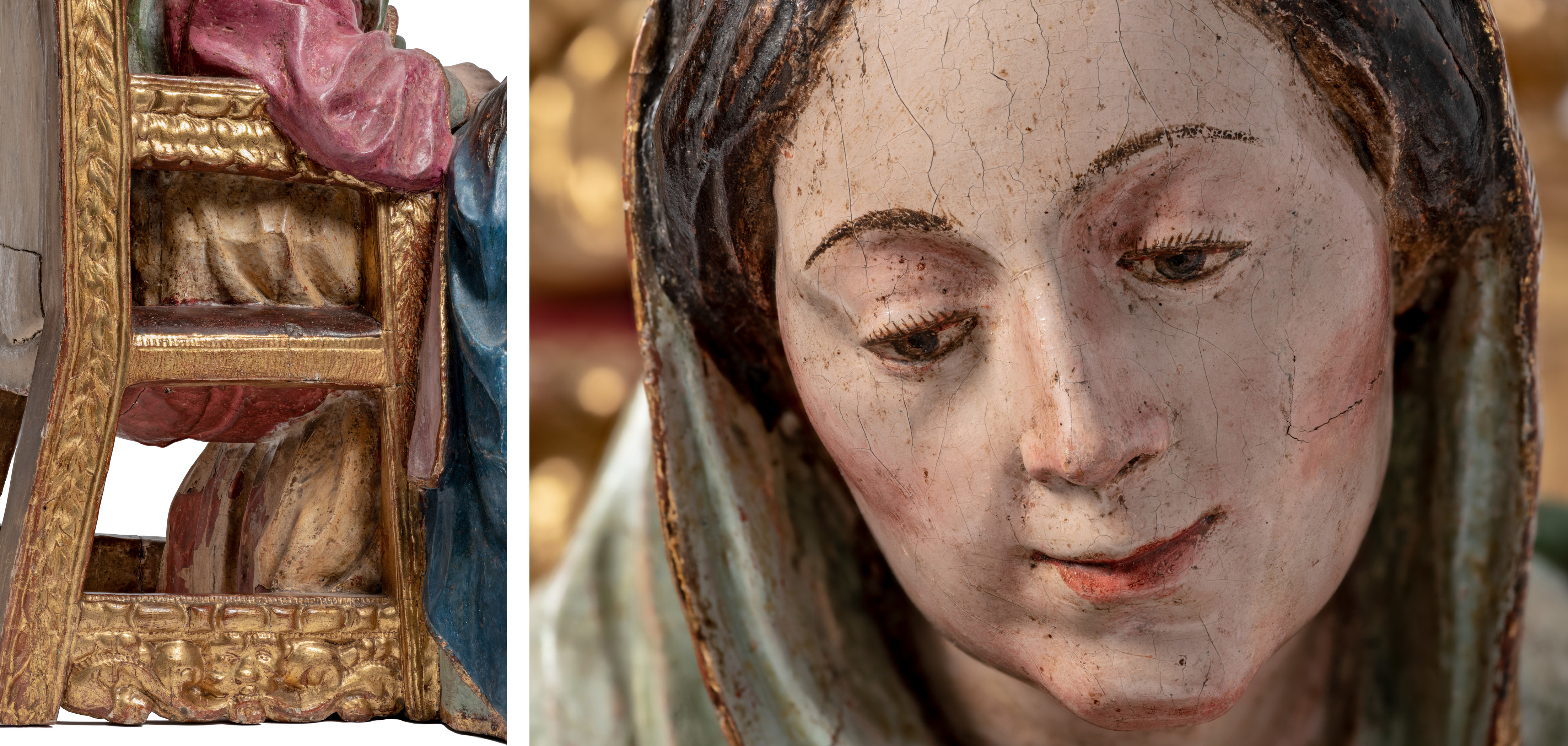 Luisa Roldán, called La Roldana, The Education of the Virgin (details), early 1680s, gift of the 2019 Collectors Committee with additional funds from Linda Borick and Bill Davidson on behalf of the Louis L. Borick Foundation, photo © Museum Associates/LACMA