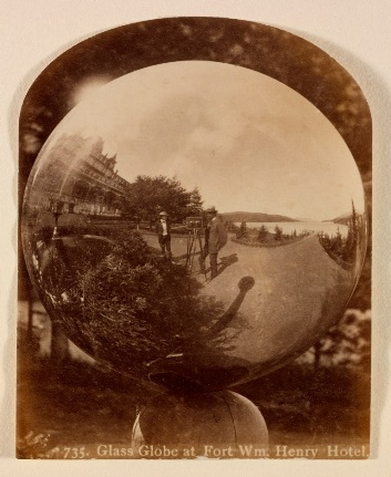 Seneca Ray Stoddard, Glass Globe at Fort William Henry Hotel, New York, c. 1885, the Audrey and Sydney Irmas Collection