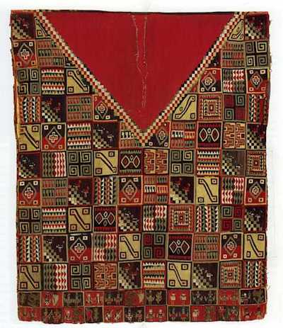 Man's Tunic (Uncu) with Tocapu and Stylized Jaguar Pelt Design (double-sided), Bolivia, Lake Titicaca, mid- to late 16th century, American Museum of Natural History, Division of Anthropology, New York, © American Museum of Natural History Library, New York