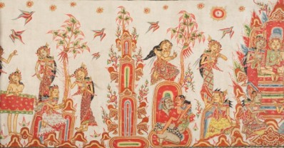Temptation of Arjuna (detail), Indonesia, Bali, possibly Kamasan (Klungkung), early 20th century, purchased with funds provided by the Southern Asian Art Council, the Ethnic Arts Council, Paula Fouce, Linda Jayne in memory of Allen Jayne, Mark Johnson in memory of Jo Jean Johnson, Arline Lloyd in memory of David Lloyd, Lisa Gimmy, and the South and Southeast Asian Art Deaccession Fund