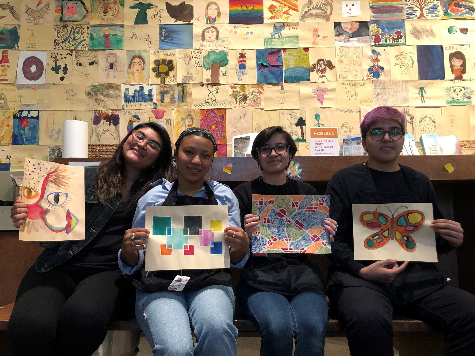 Look for these familiar faces at the pop-ups in the art galleries! (From left: Julia Velasquez, Krys Murry, Susi Castillo, and Ceci Flores)