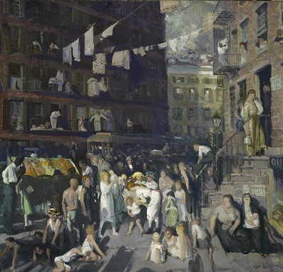 George Bellows, Cliff Dwellers, 1913, Los Angeles County Fund