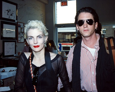 Melody with Edward Mapplethorpe, the Collector Art Gallery and Restaurant, June 30, 1989.  © Bill Wooby
